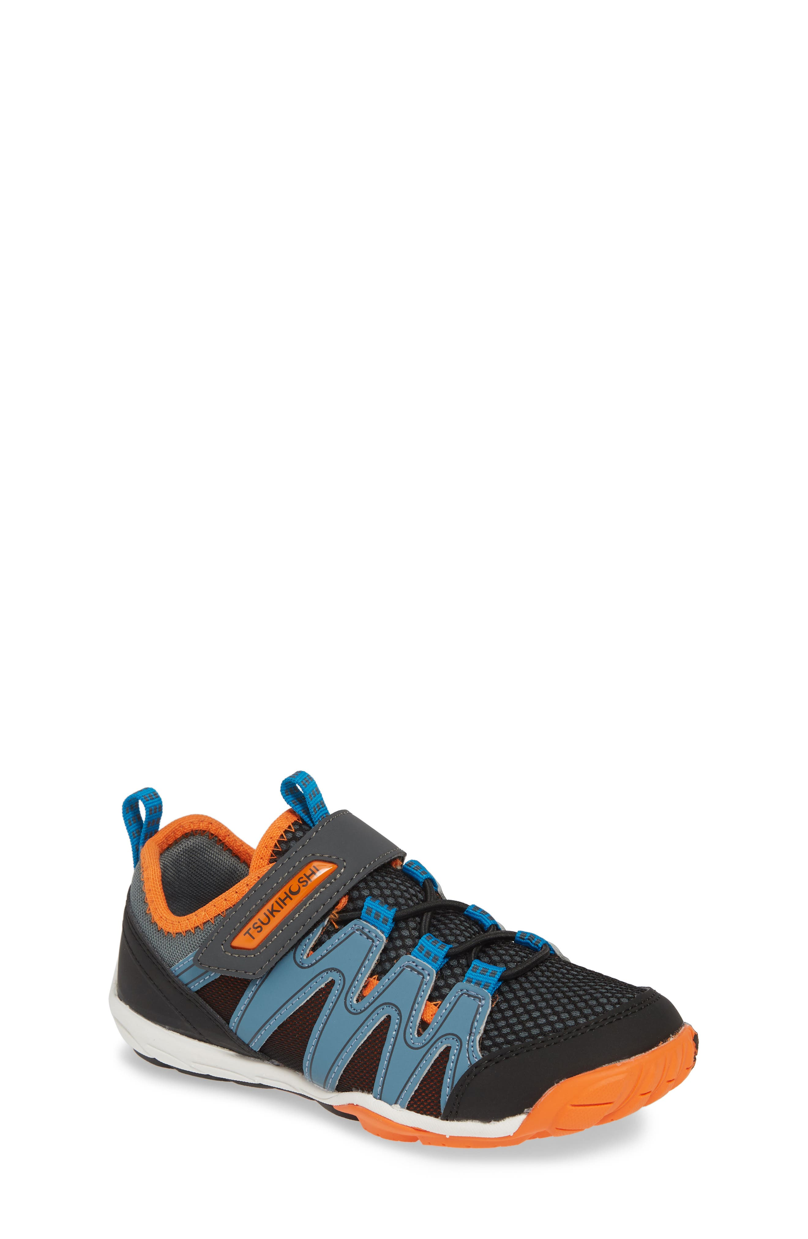 TSUKIHOSHI, Wave Washable Sneaker, Main thumbnail 1, color, BLACK/ ORANGE