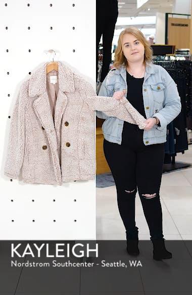 Double Breasted Fleece Coat, sales video thumbnail