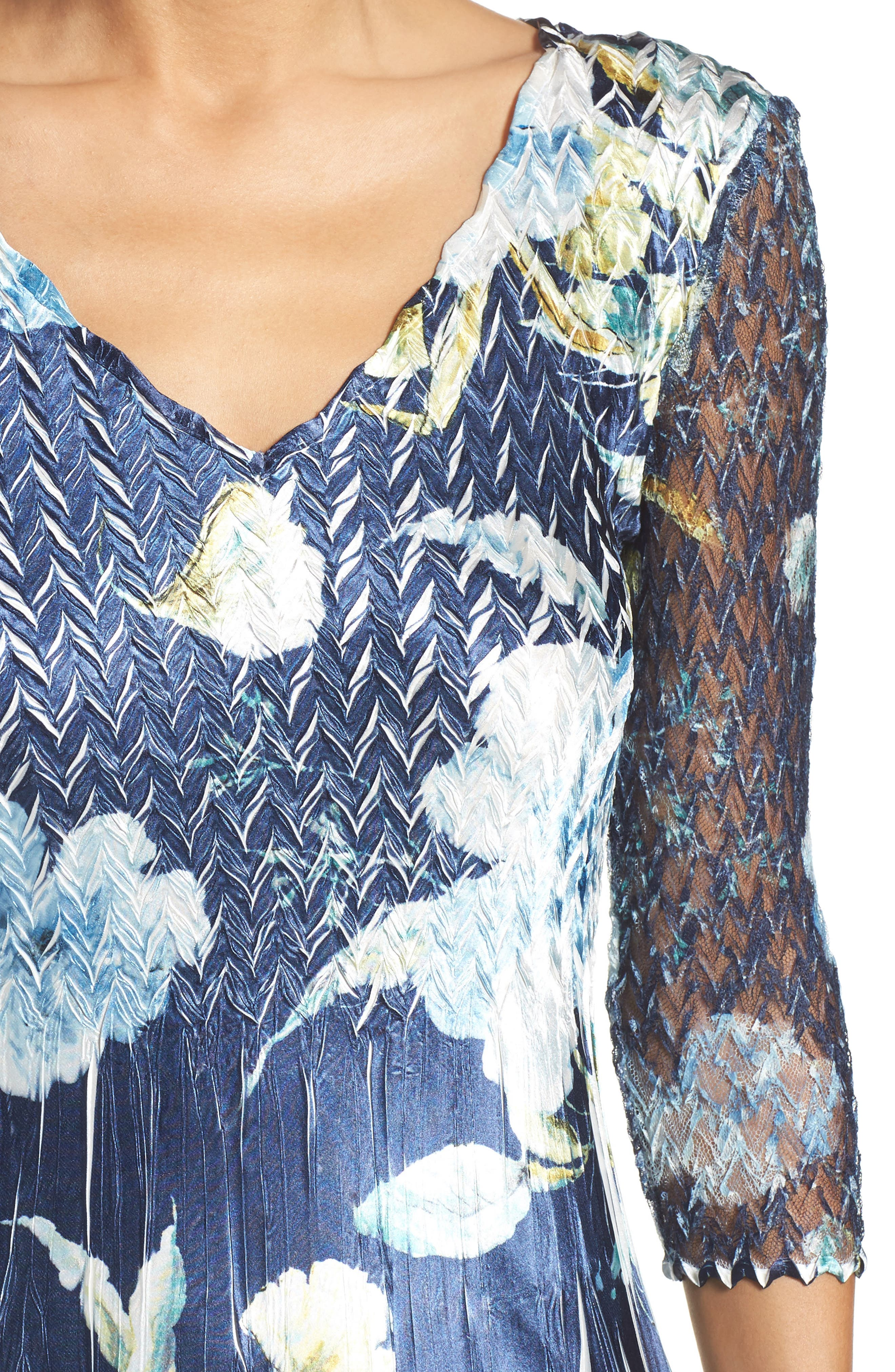 KOMAROV, A-Line Dress, Alternate thumbnail 4, color, SAPPHIRE