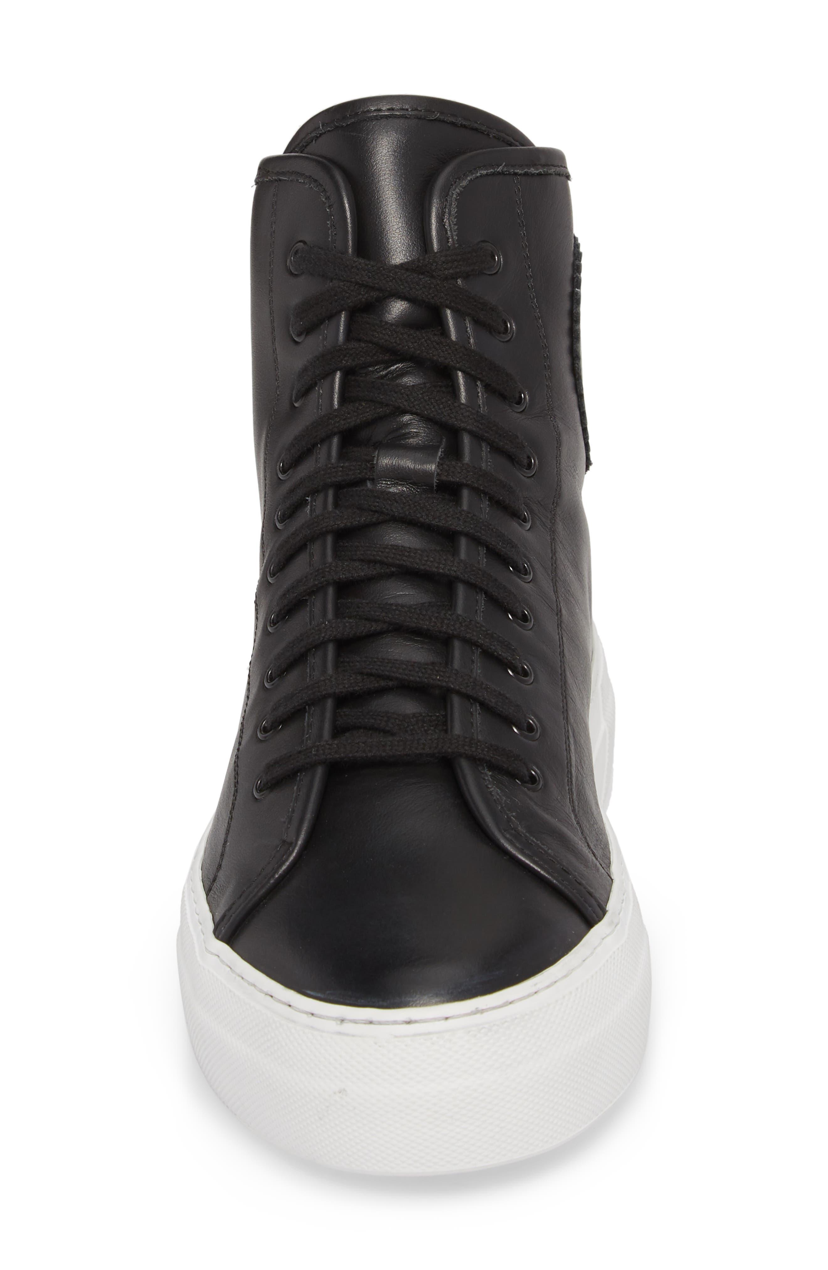 COMMON PROJECTS, Tournament High Super Sneaker, Alternate thumbnail 4, color, BLACK/ WHITE