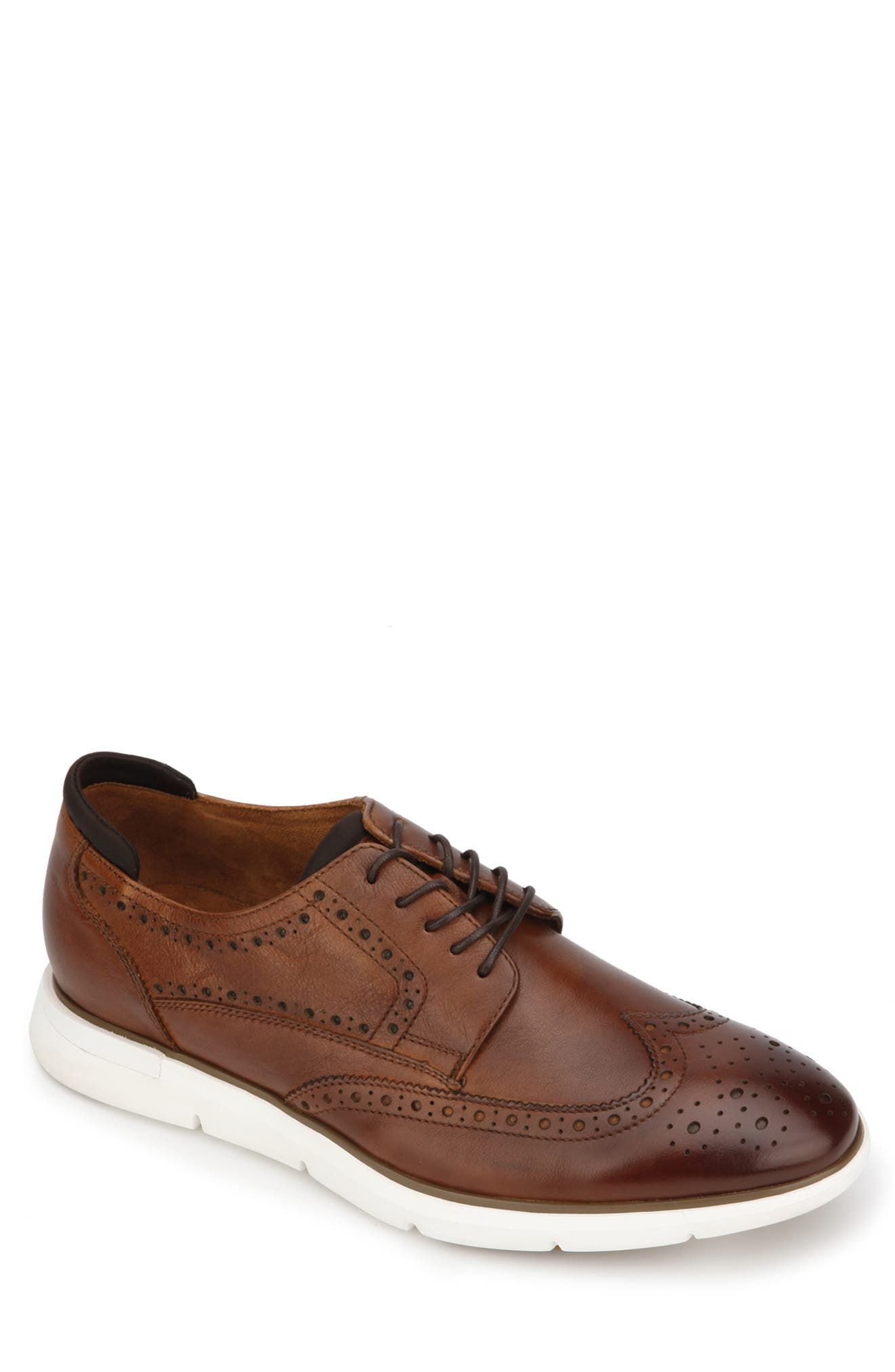 KENNETH COLE NEW YORK Dover Wingtip, Main, color, COGNAC GRAIN LEATHER
