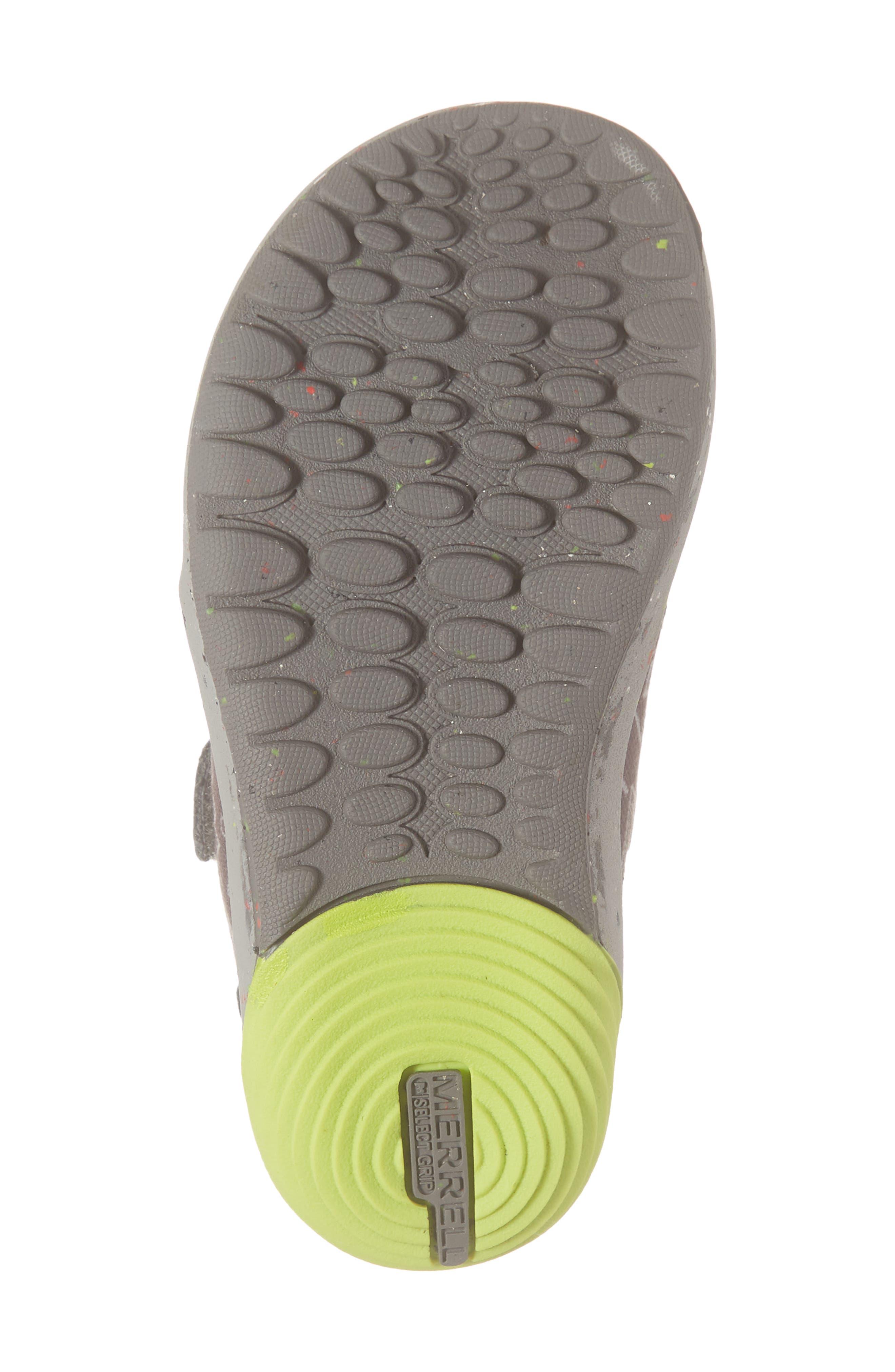 MERRELL, Bare Steps Sneaker, Alternate thumbnail 6, color, GREY