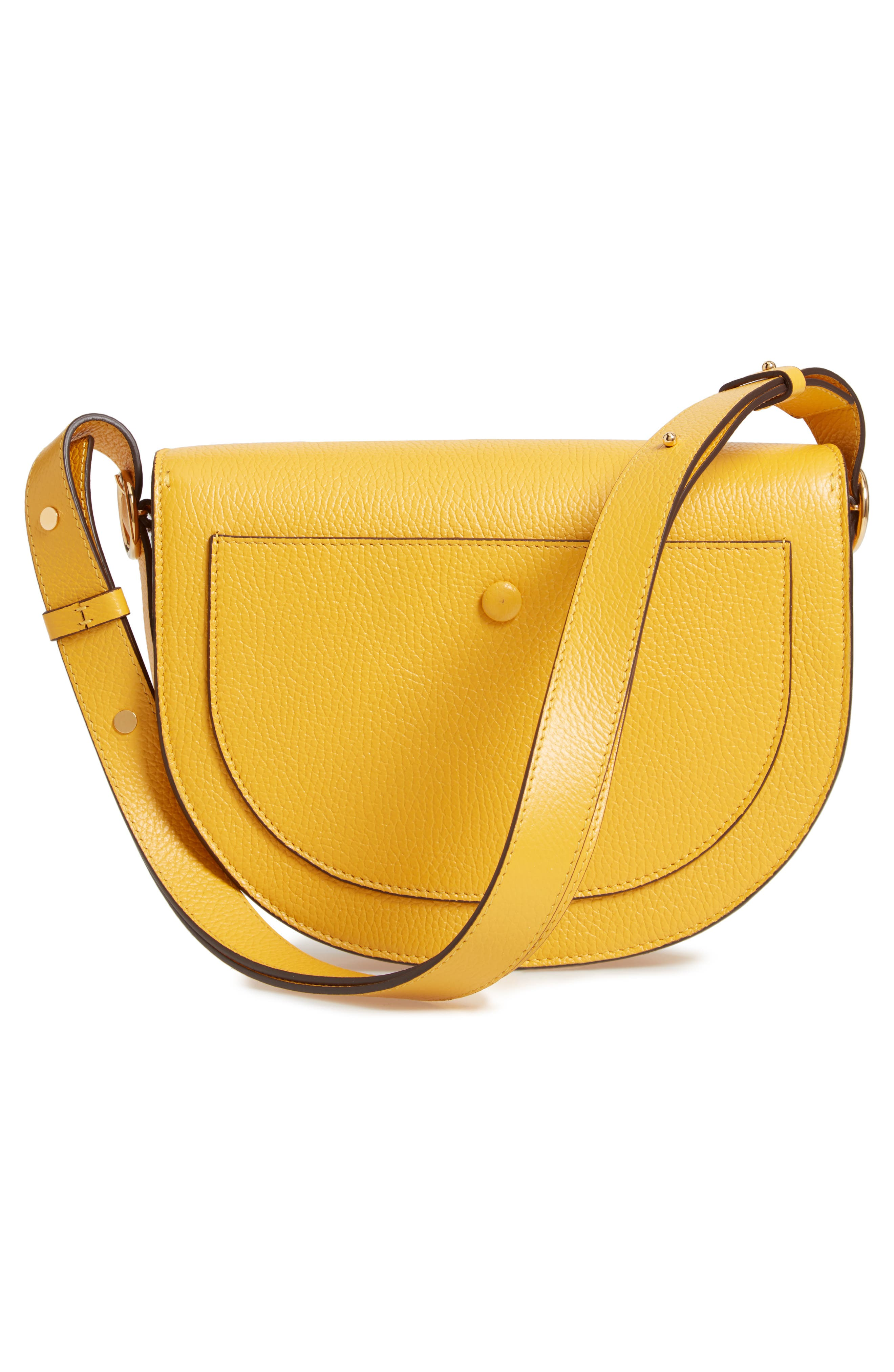 VICTORIA BECKHAM, Half Moon Box Shoulder Bag, Alternate thumbnail 3, color, YELLOW