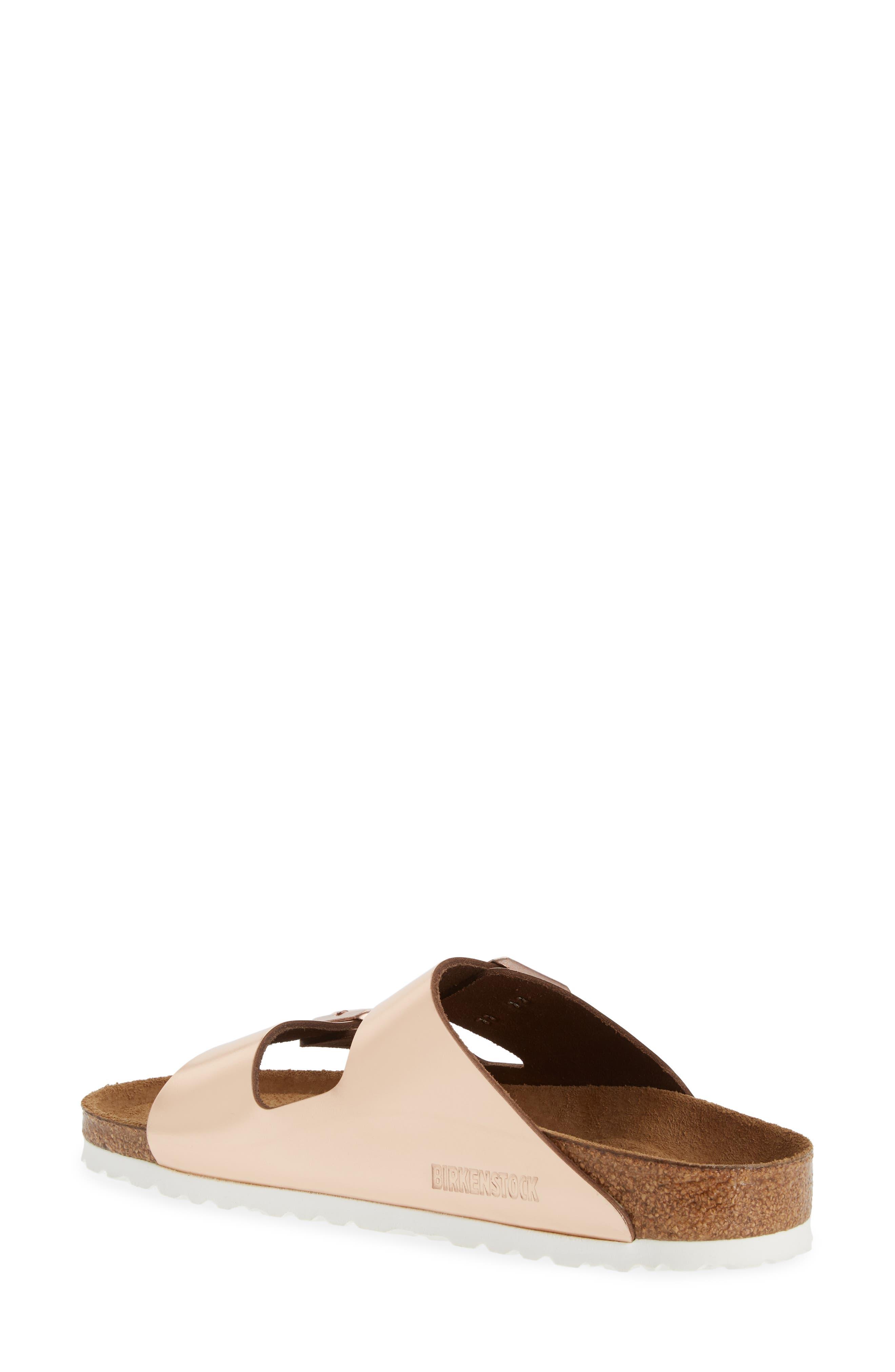 BIRKENSTOCK, 'Arizona' Soft Footbed Sandal, Alternate thumbnail 2, color, COPPER LEATHER