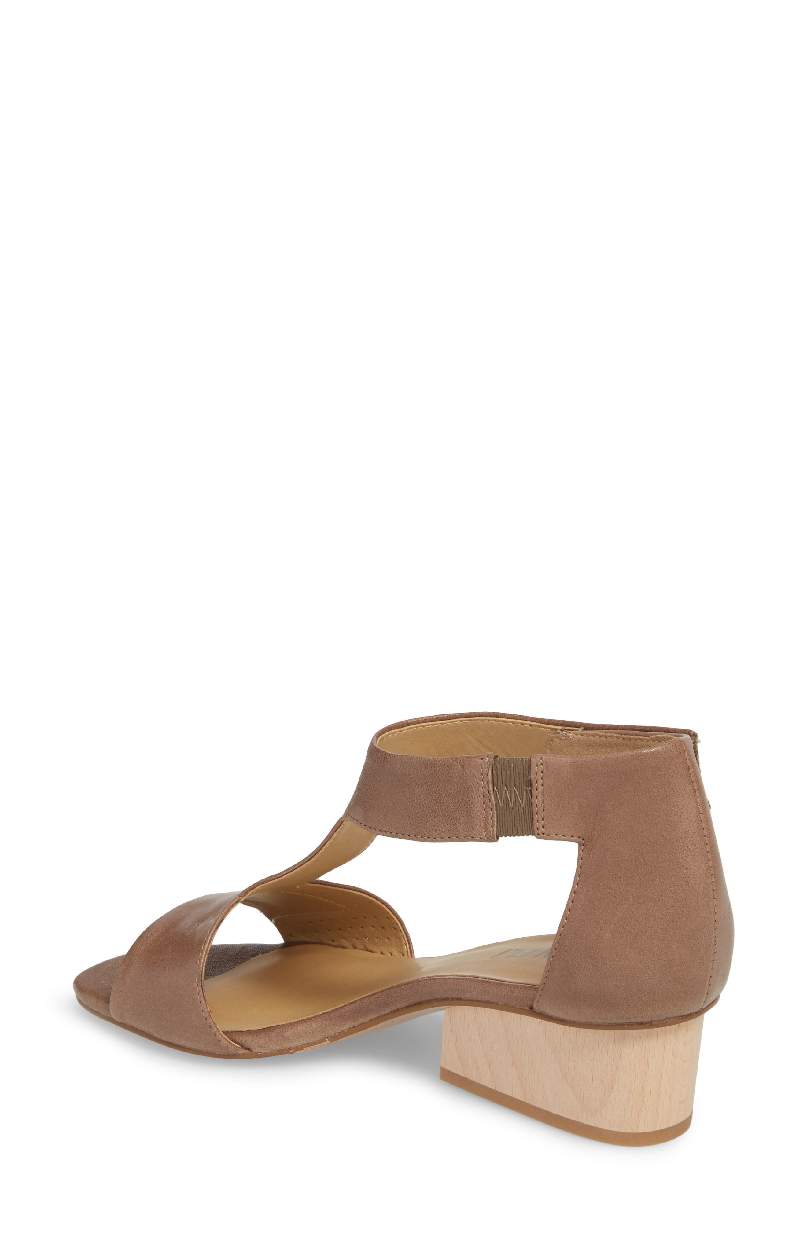 VANELI, Calyx Block Heel Sandal, Alternate thumbnail 2, color, STONE LEATHER