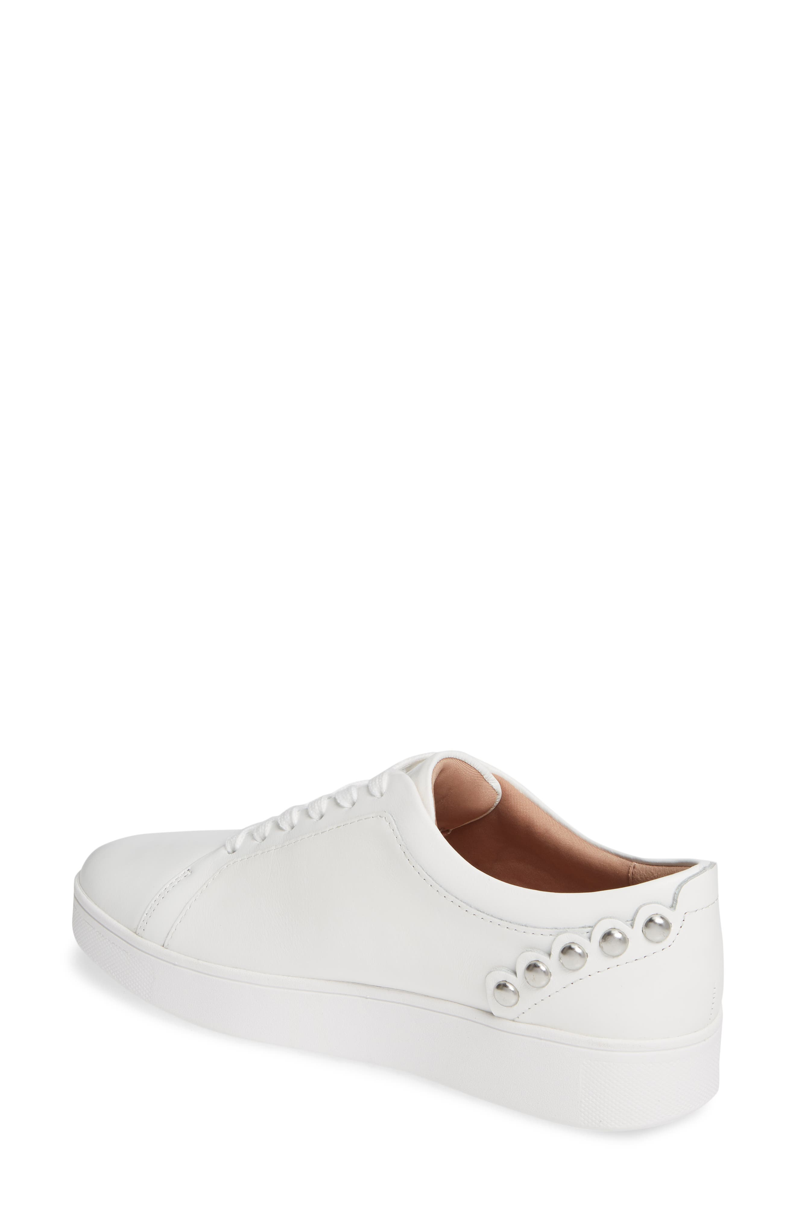 FITFLOP, Rally Studded Sneaker, Alternate thumbnail 2, color, URBAN WHITE LEATHER