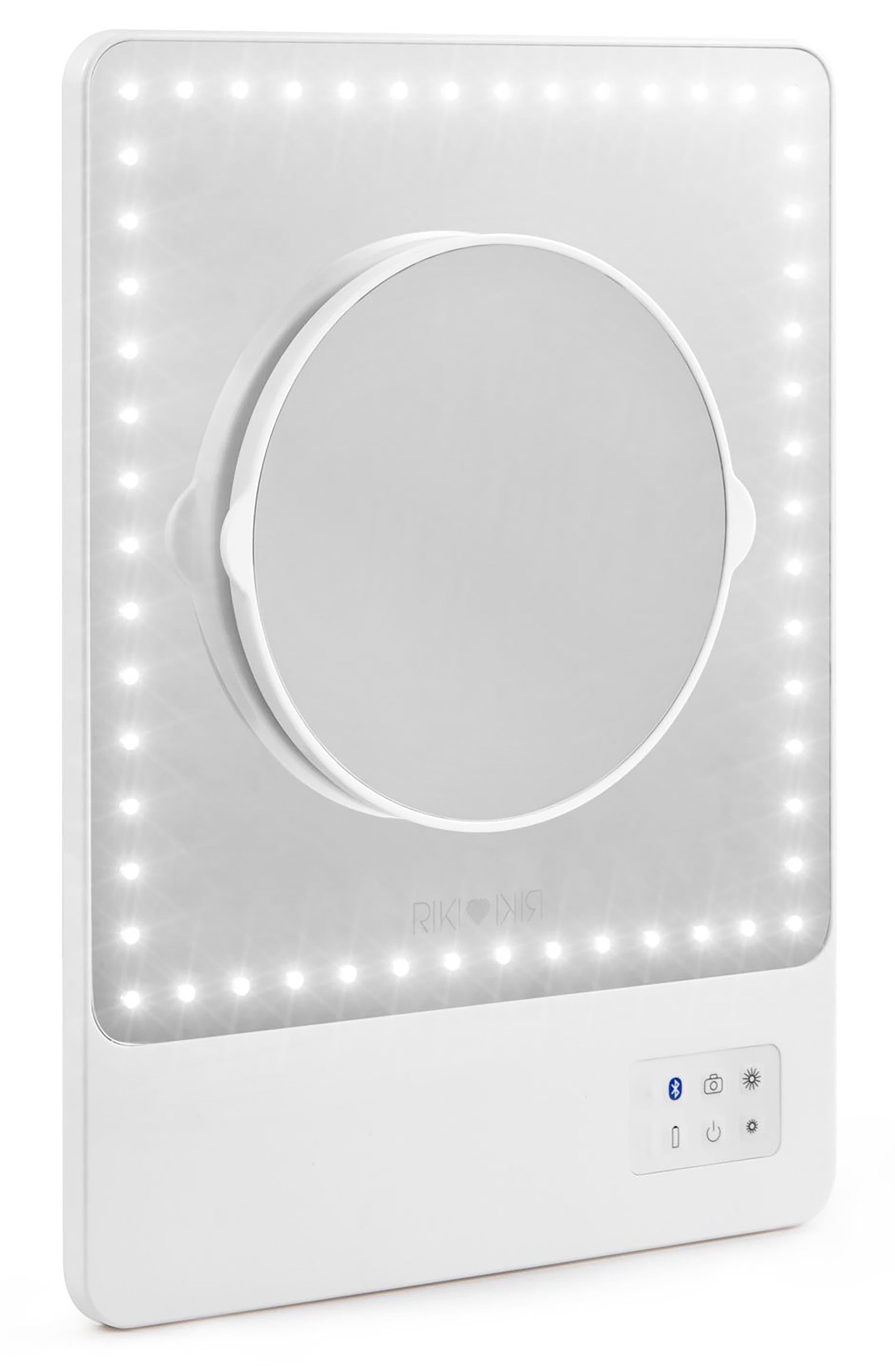RIKI, Skinny Lighted Mini Vanity Mirror, Alternate thumbnail 2, color, NO COLOR