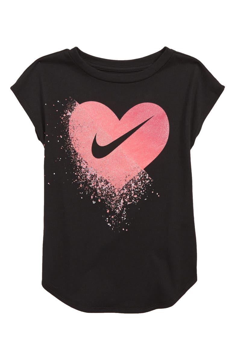 703b4ef24 Nike Glitter Heart Tee (Toddler Girls & Little Girls) | Nordstrom
