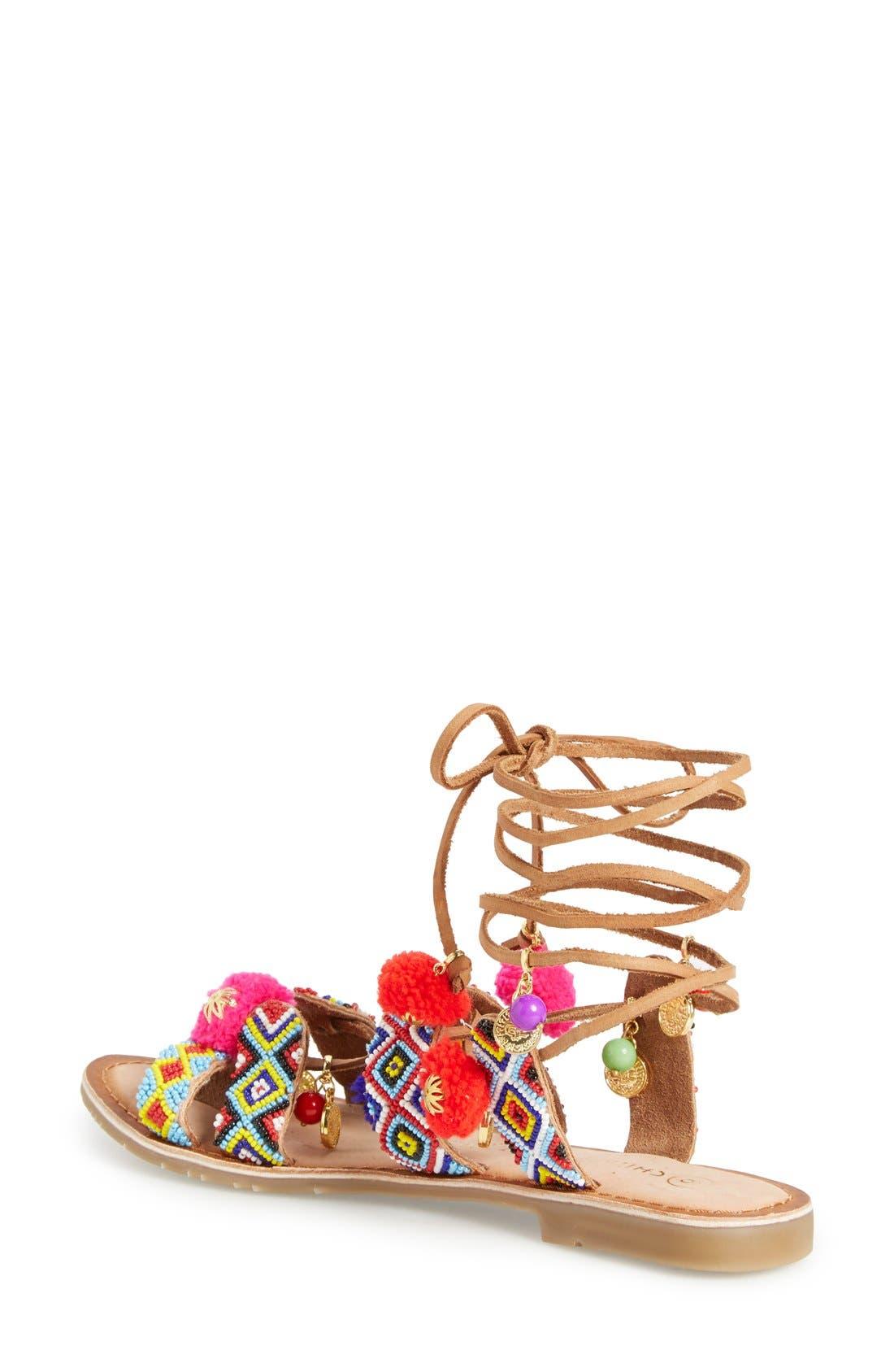 CHINESE LAUNDRY, 'Posh' Embellished Lace-Up Sandal, Alternate thumbnail 2, color, 218