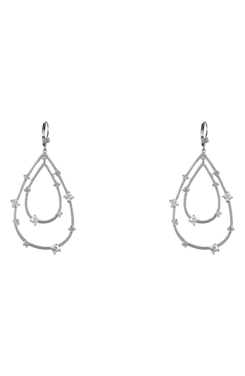 Nina Accessories ADORNED LAYERED TEARDROP EARRINGS