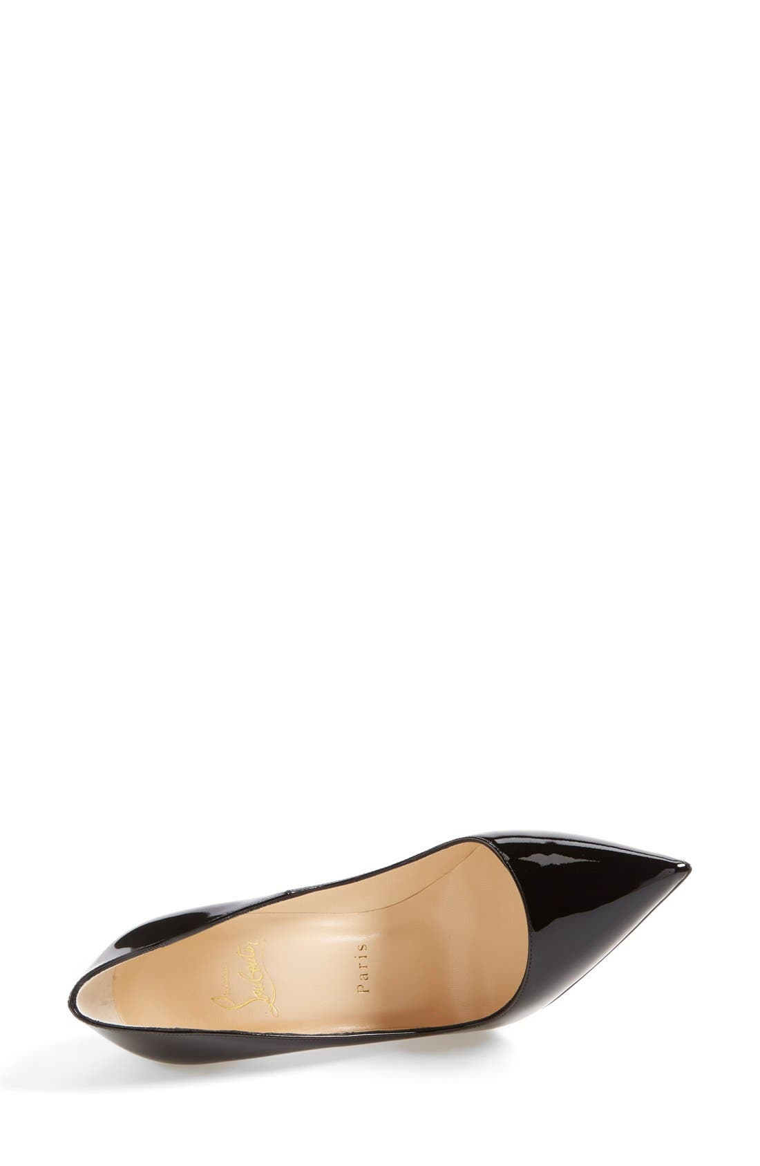 CHRISTIAN LOUBOUTIN, So Kate Pointy Toe Pump, Alternate thumbnail 3, color, BLACK