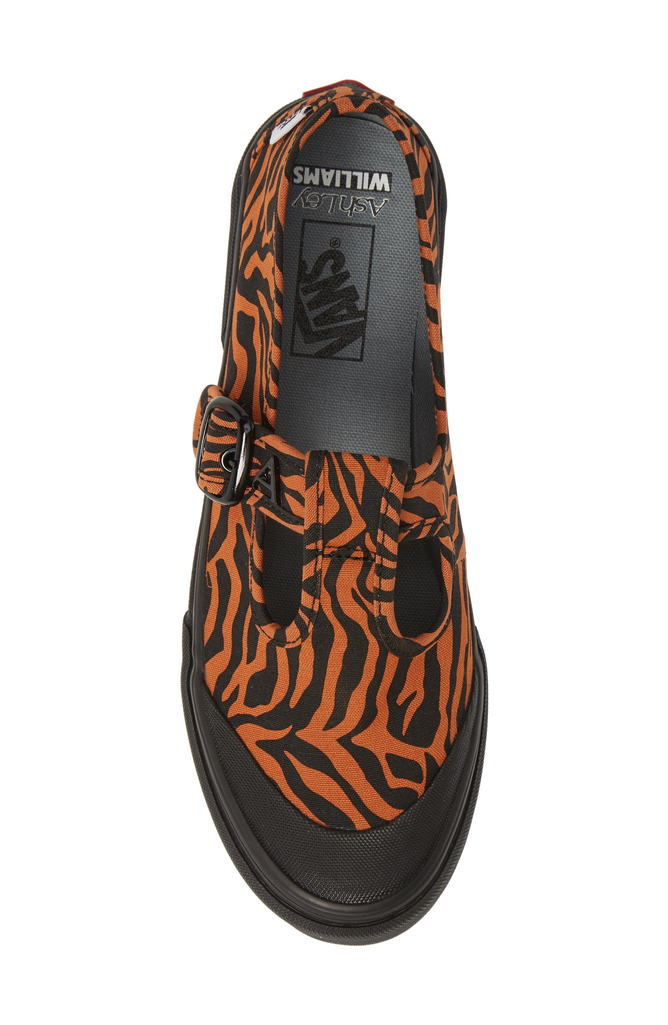VANS, x Ashley Williams Style 38 Tiger Sneaker, Alternate thumbnail 5, color, TIGER/ BLACK