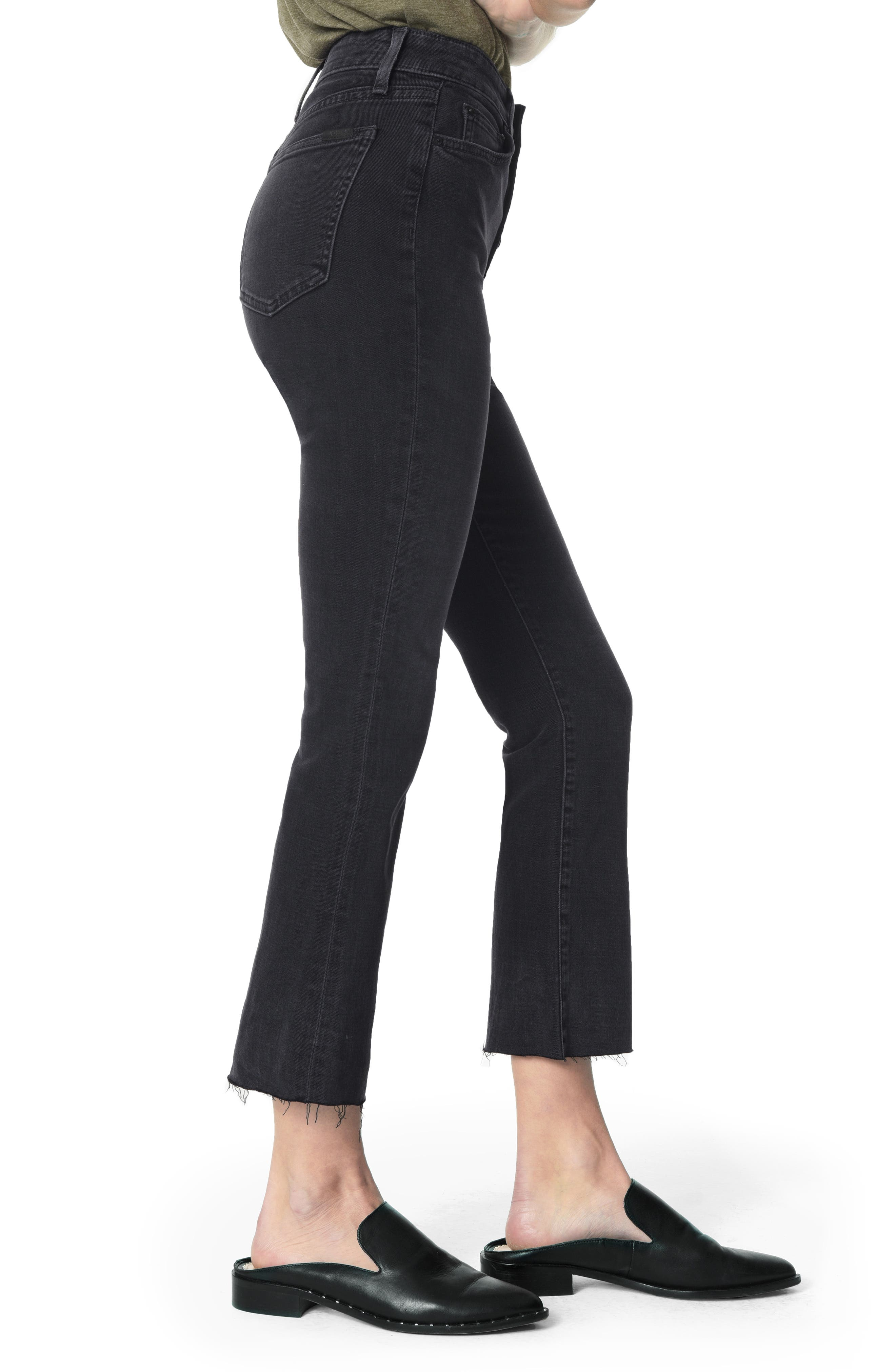 JOE'S, The Callie High Waist Crop Flare Jeans, Alternate thumbnail 3, color, 018