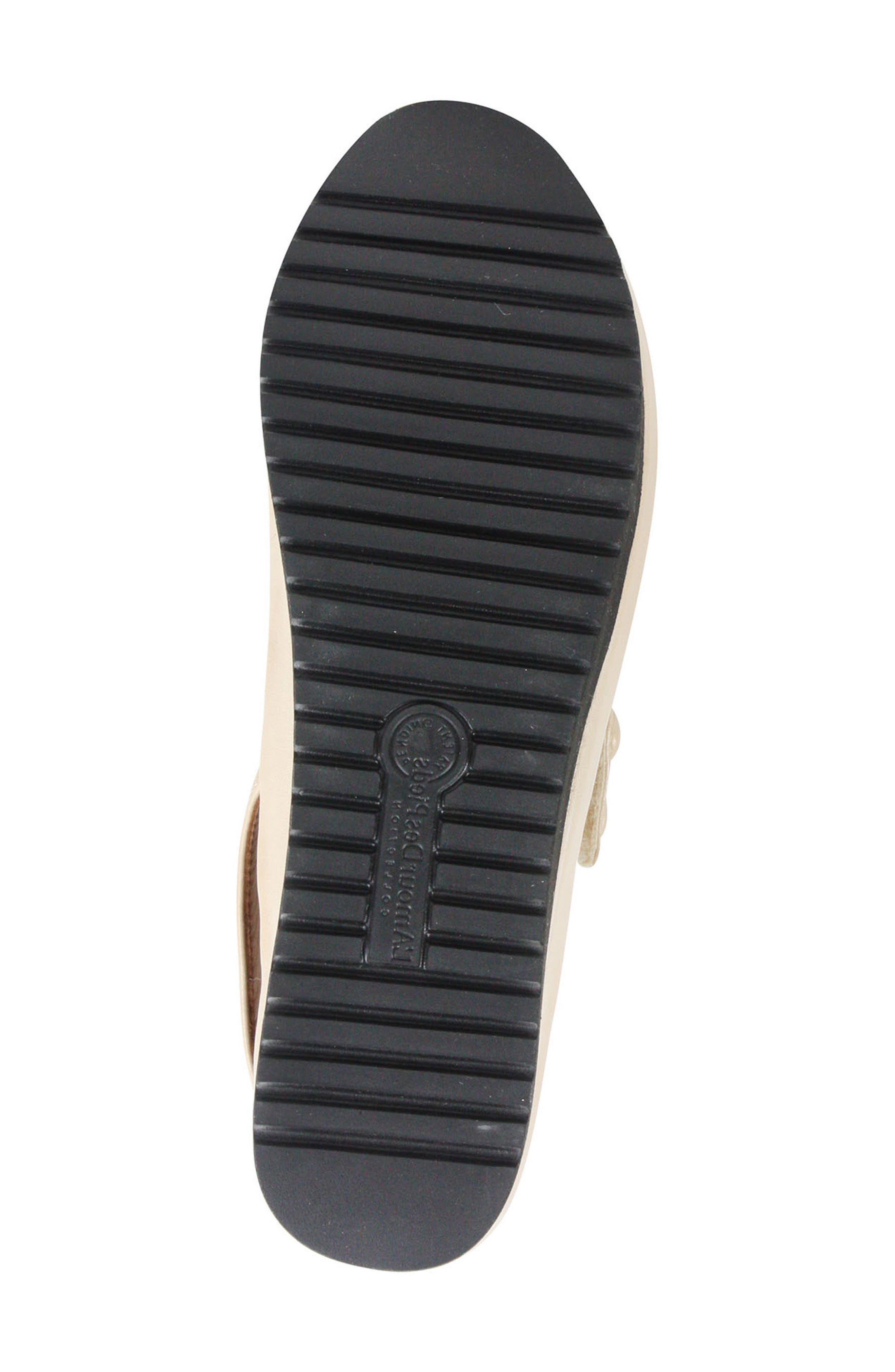 L'AMOUR DES PIEDS, Adalicia Platform Sandal, Alternate thumbnail 6, color, NUDE LEATHER