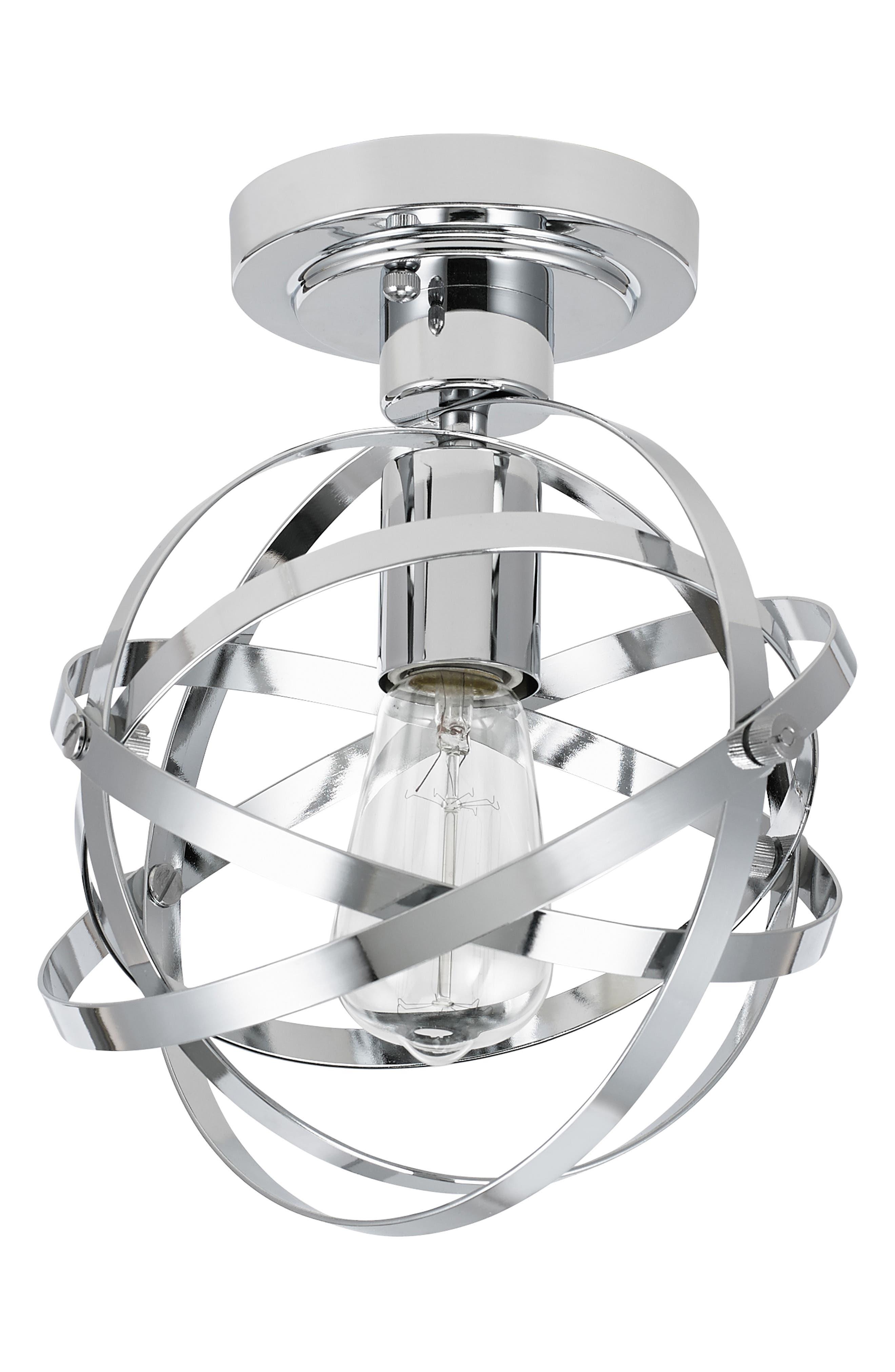 Jalexander Lighting Colton OneLight Flush Mount Lamp Size One Size  Metallic