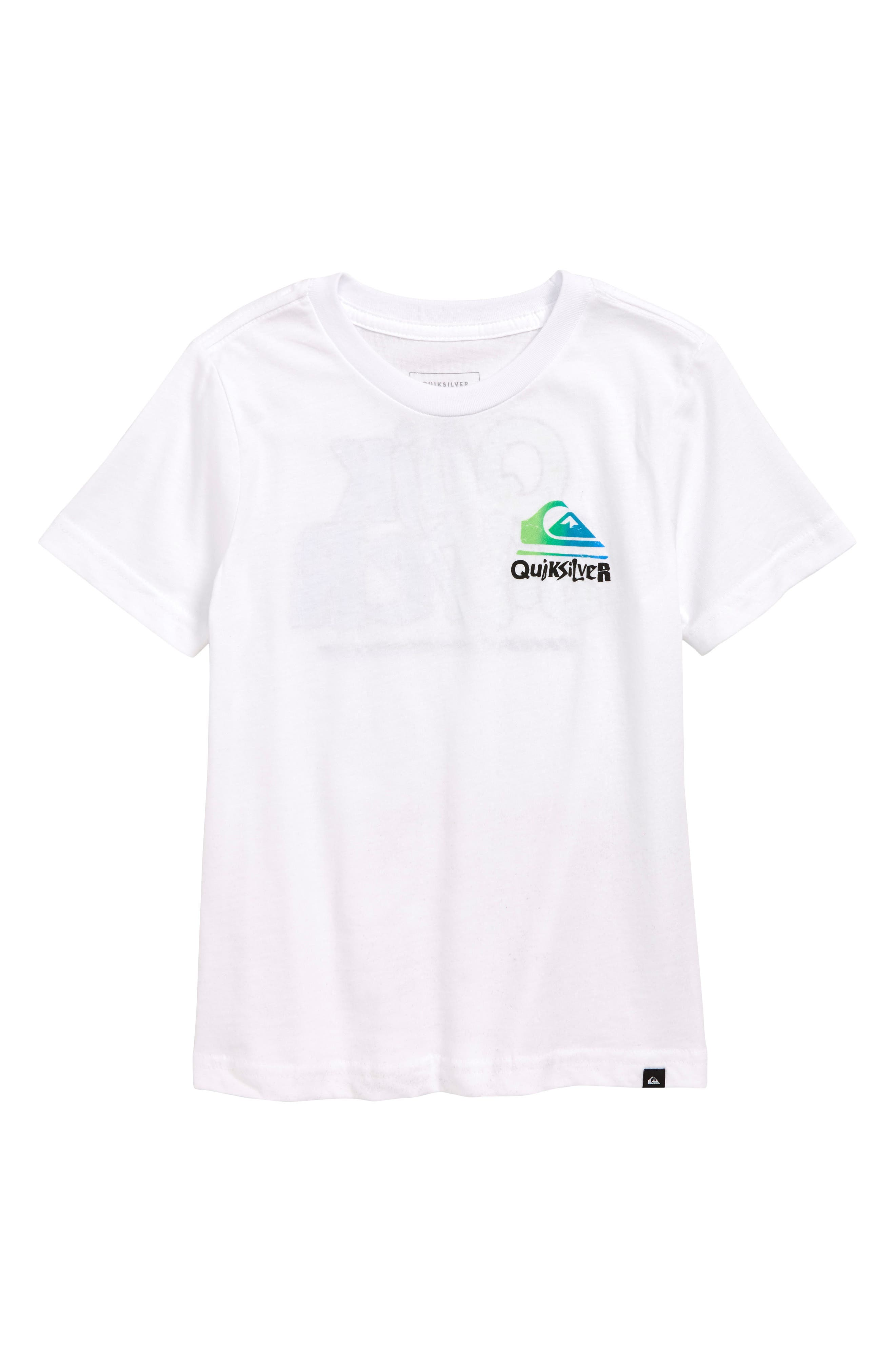 QUIKSILVER, Rebel Yell Graphic T-Shirt, Main thumbnail 1, color, WHITE