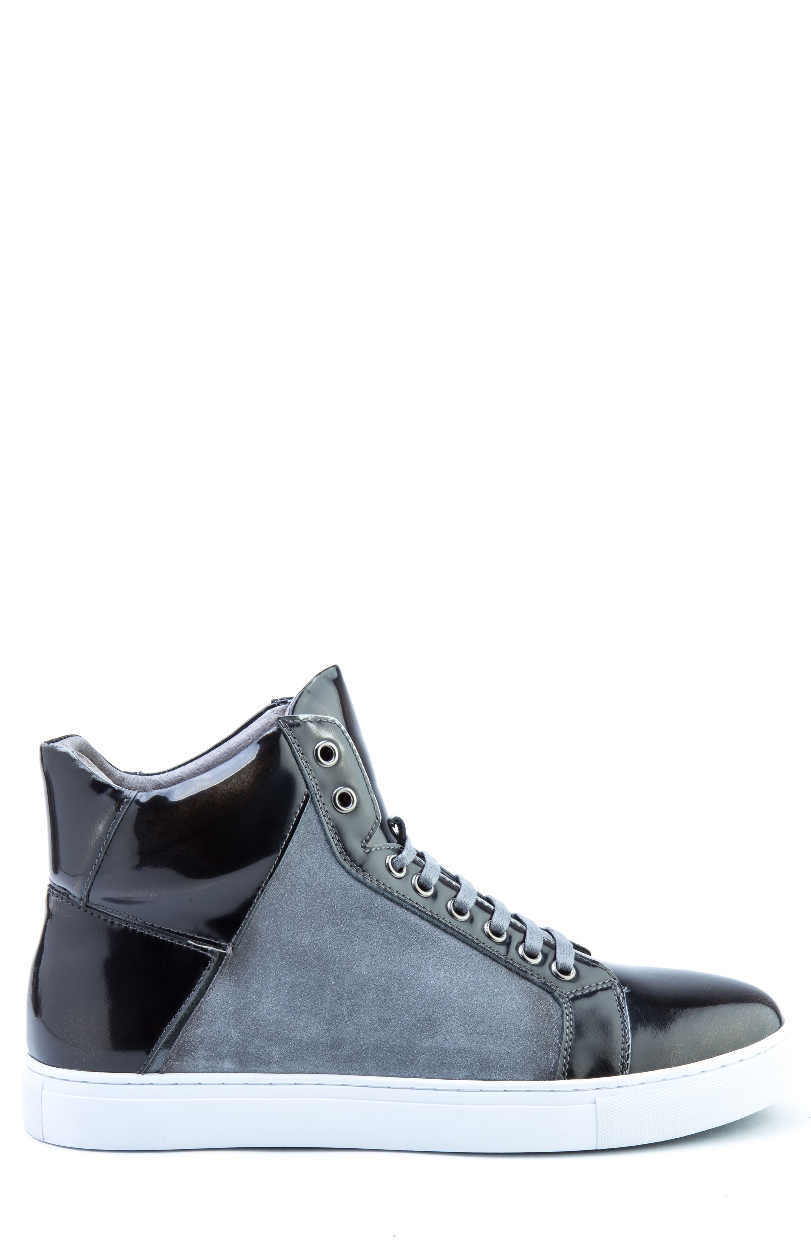 BADGLEY MISCHKA COLLECTION, Badgley Mischka Douglas High Top Sneaker, Alternate thumbnail 3, color, 001