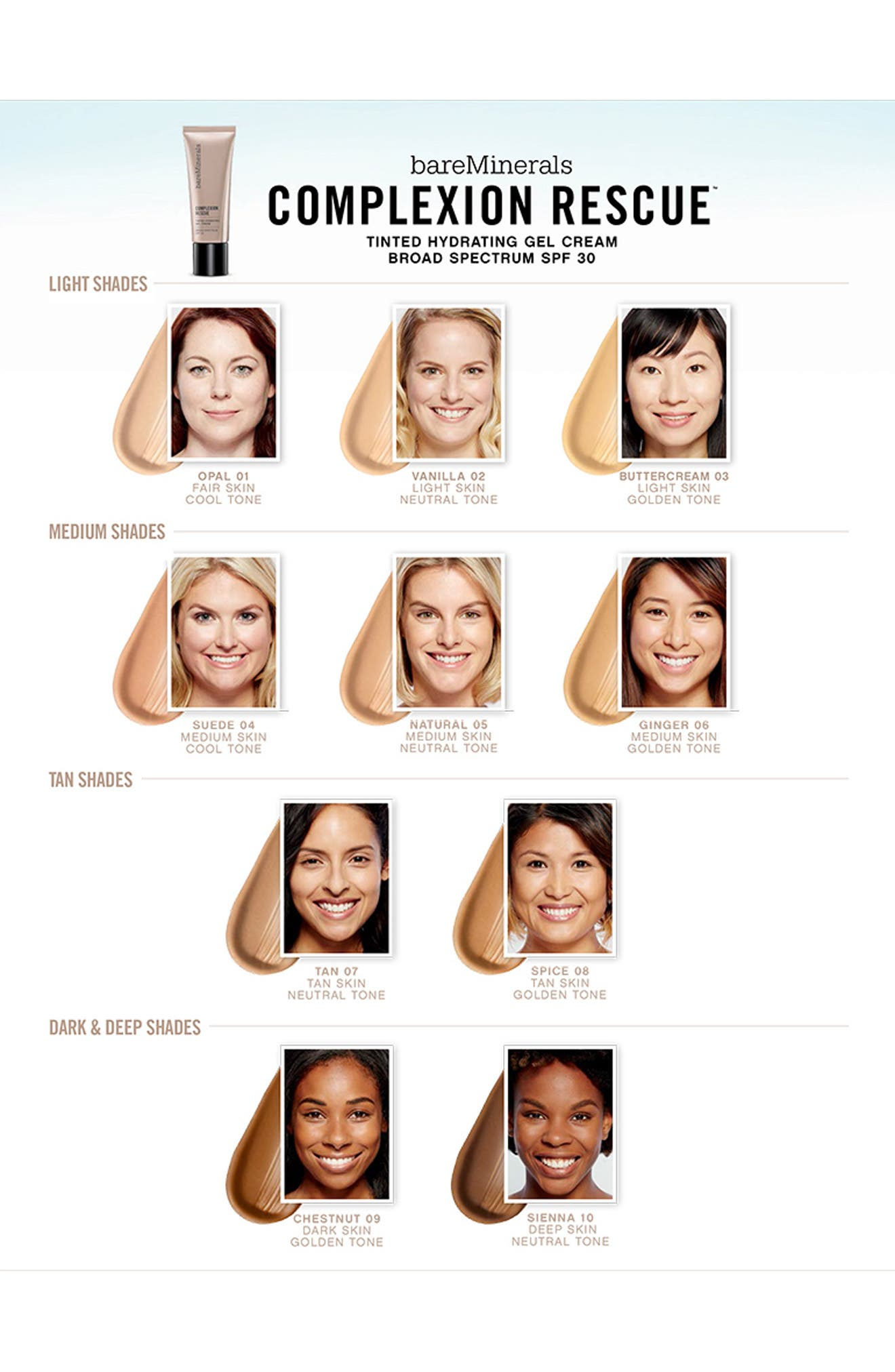 BAREMINERALS<SUP>®</SUP>, COMPLEXION RESCUE<sup>™</sup> Tinted Moisturizer, Alternate thumbnail 5, color, 07 TAN