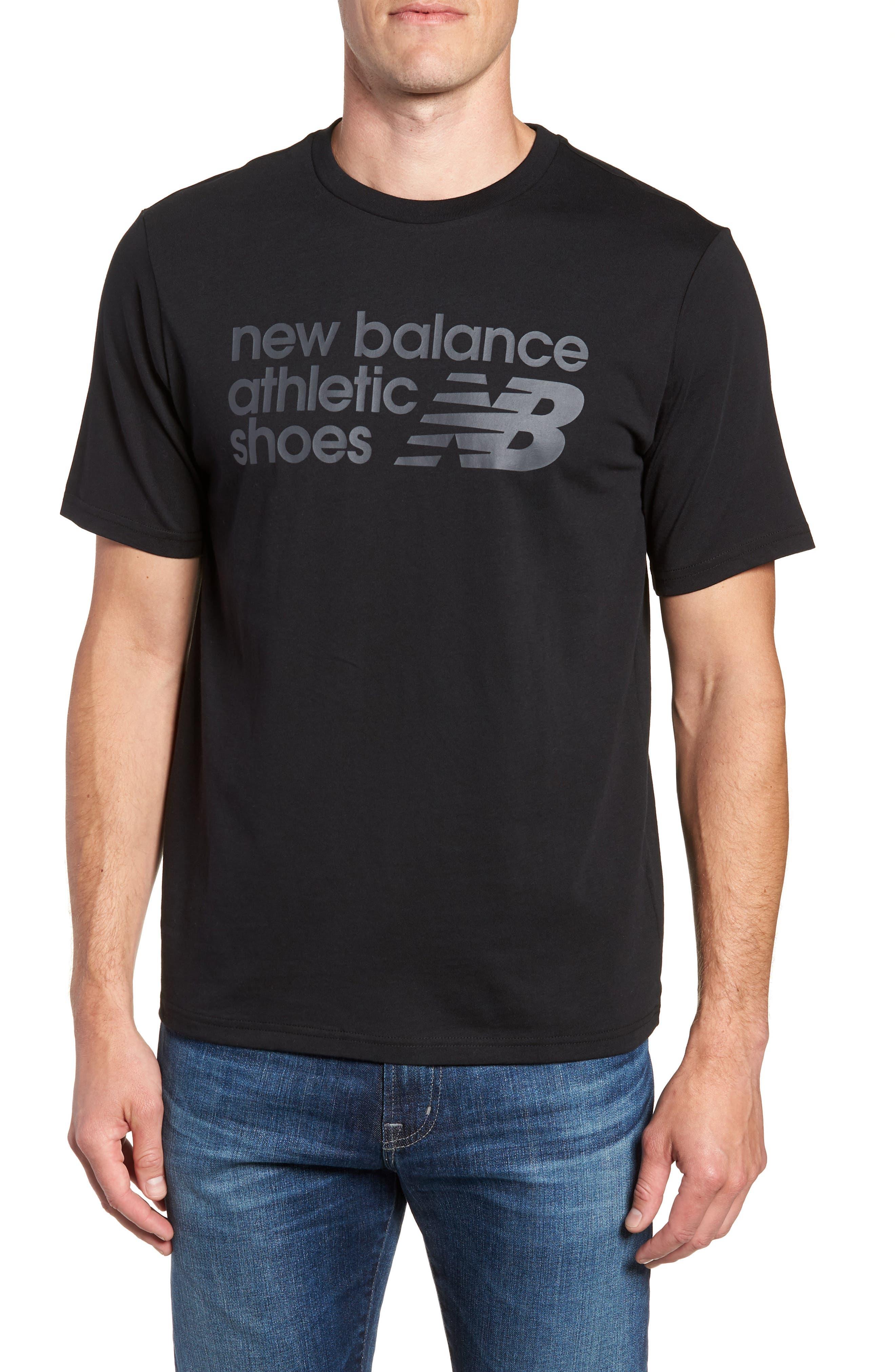 NEW BALANCE NB Shoe Box Graphic T-Shirt, Main, color, BLACK