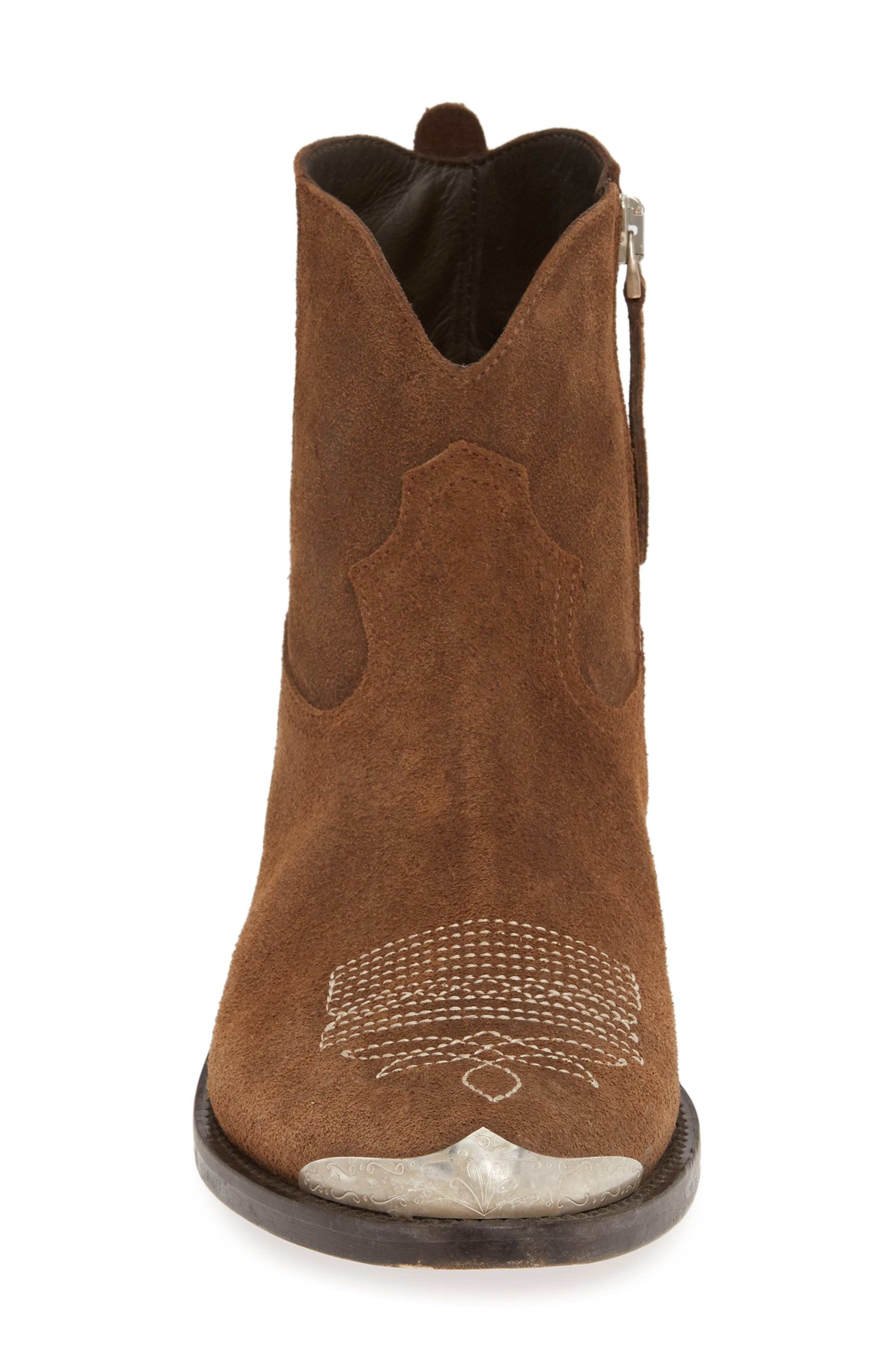 GOLDEN GOOSE, Young Western Boot, Alternate thumbnail 4, color, DARK BROWN