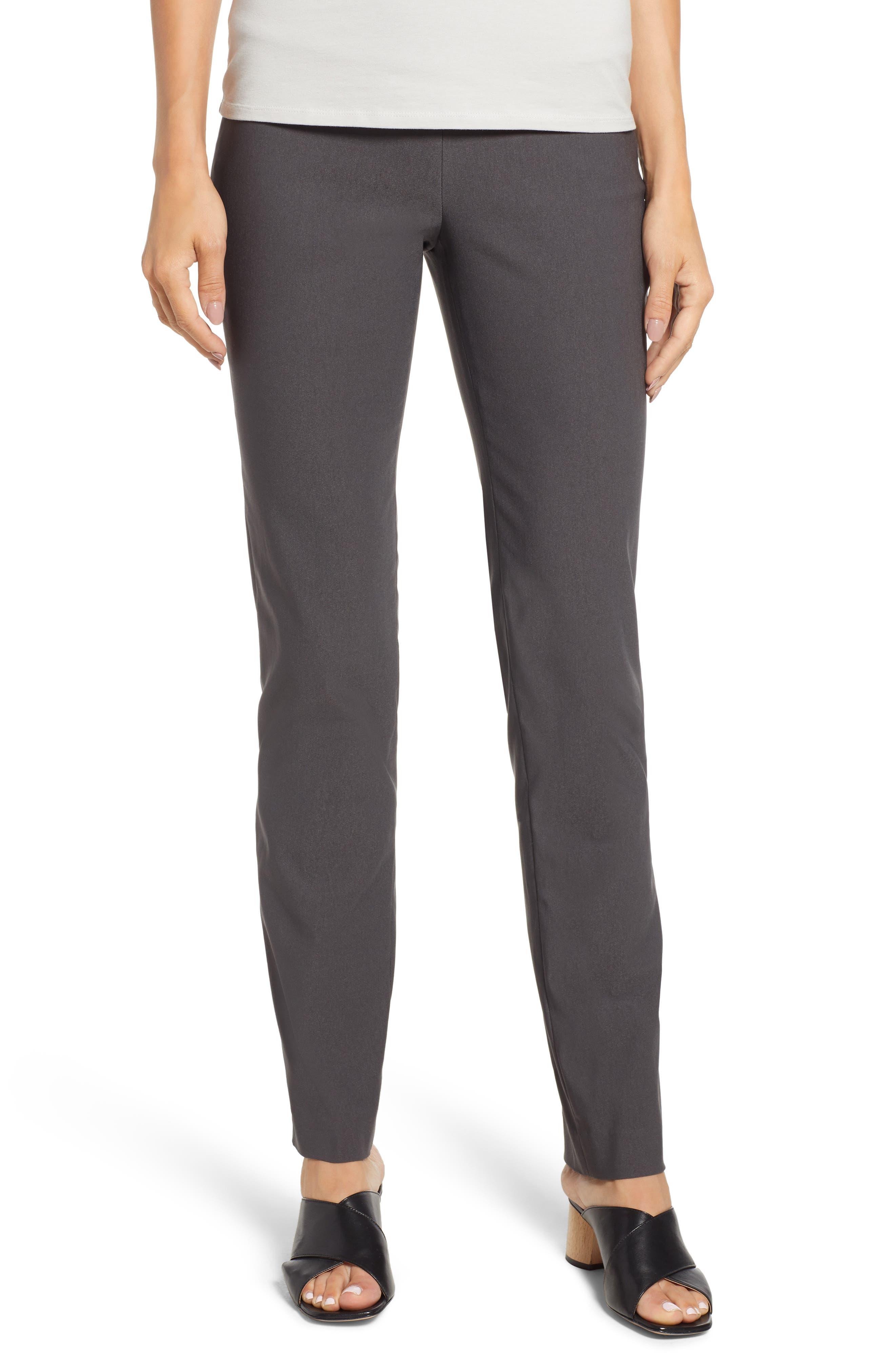 NIC+ZOE Wonderstretch Slim Leg Pants, Main, color, GRAPHITE