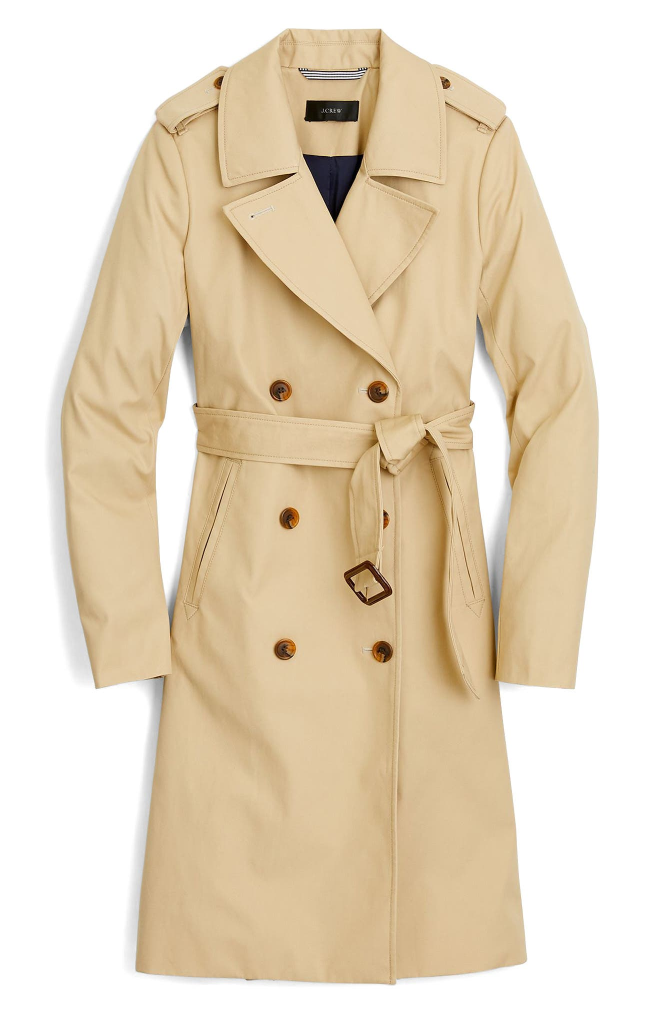 J.CREW, 2011 Icon Trench Coat, Alternate thumbnail 4, color, VINTAGE KHAKI