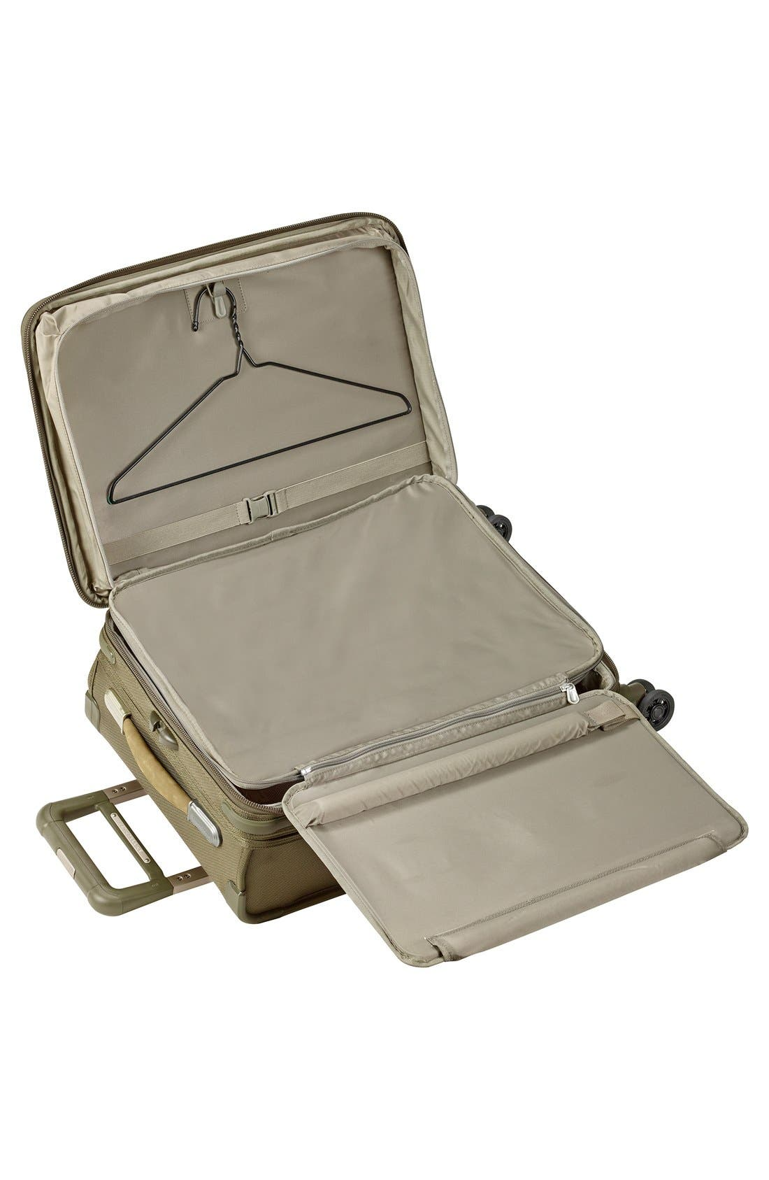 BRIGGS & RILEY, Baseline Domestic 22-Inch Expandable Rolling Carry-On, Alternate thumbnail 3, color, OLIVE