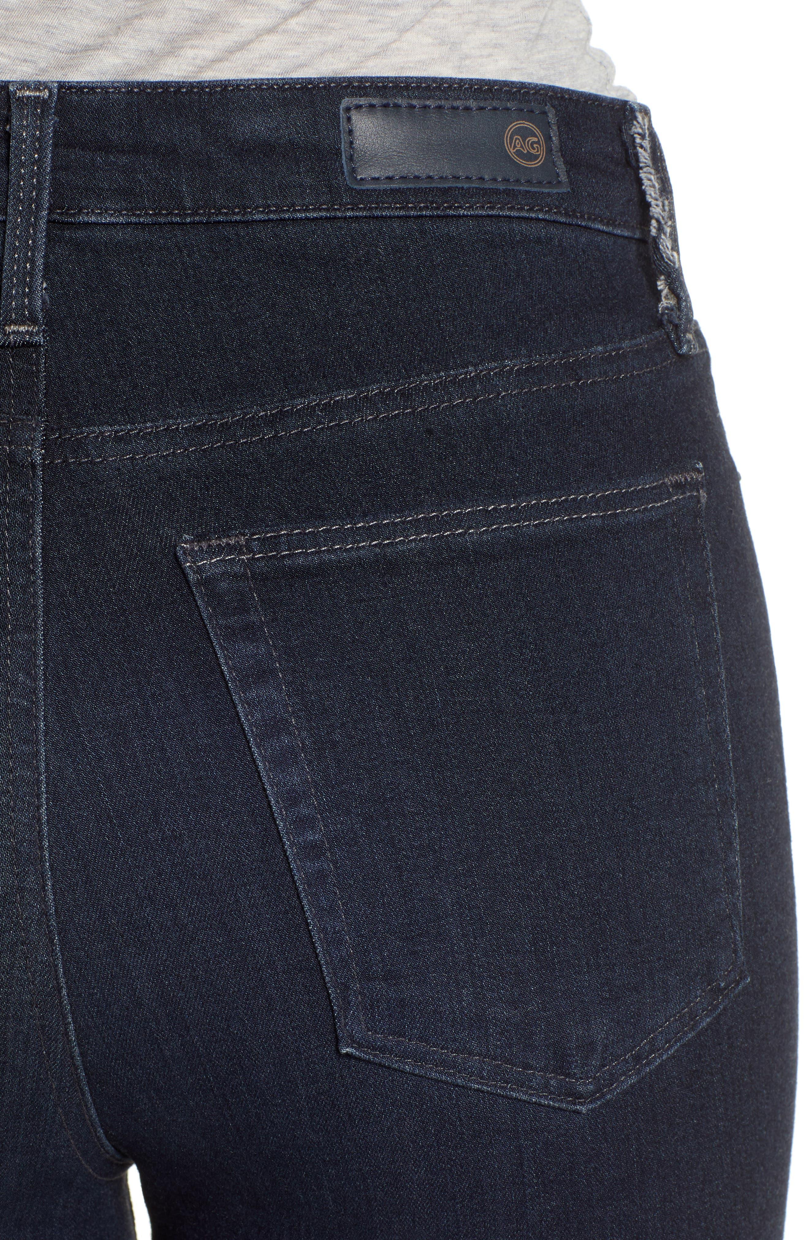 AG, The Mila Super High Waist Ankle Skinny Jeans, Alternate thumbnail 5, color, AUDACIOUS
