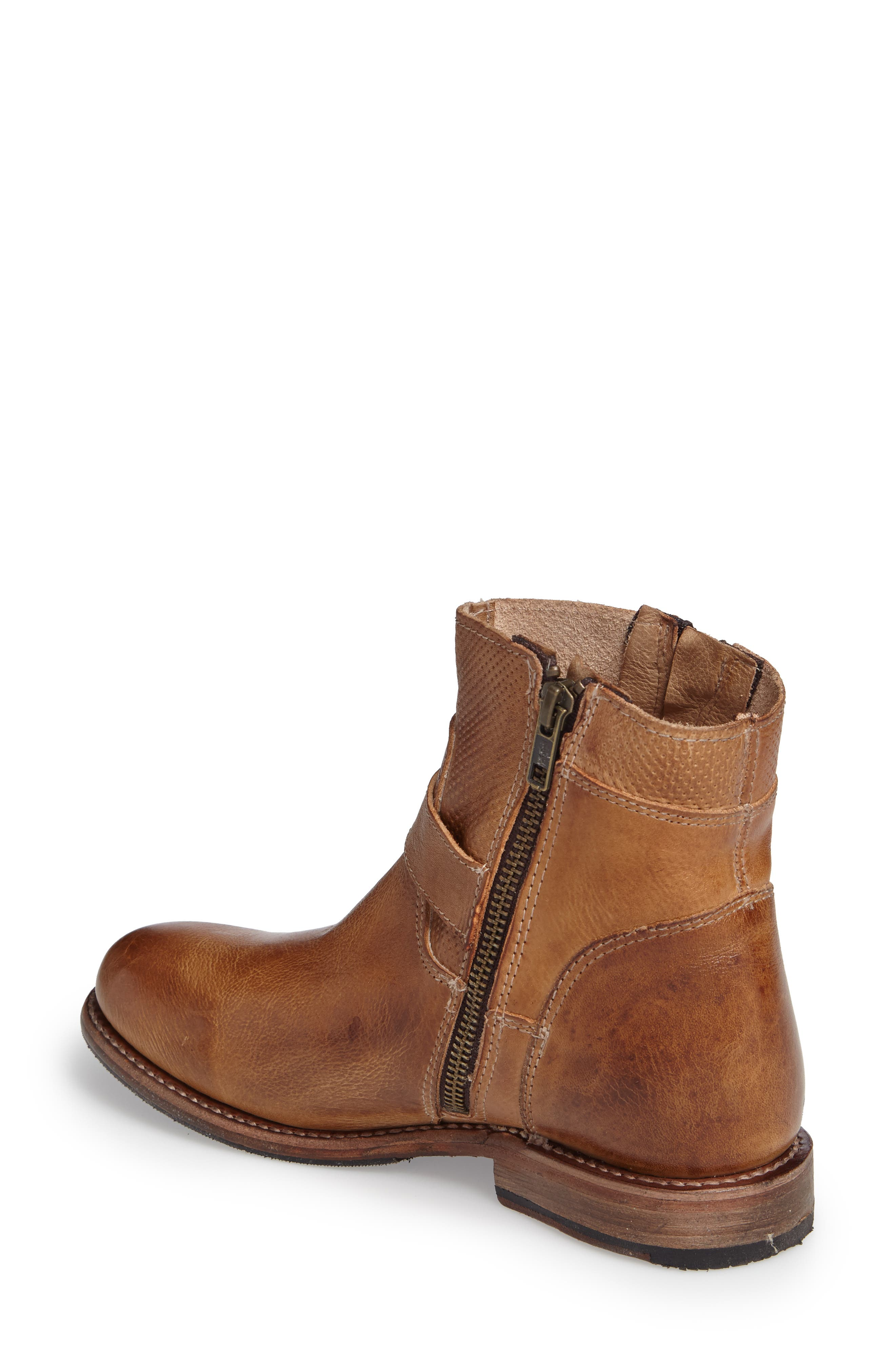 BED STU, Becca Buckle Boot, Alternate thumbnail 2, color, TAN RUSTIC LEATHER