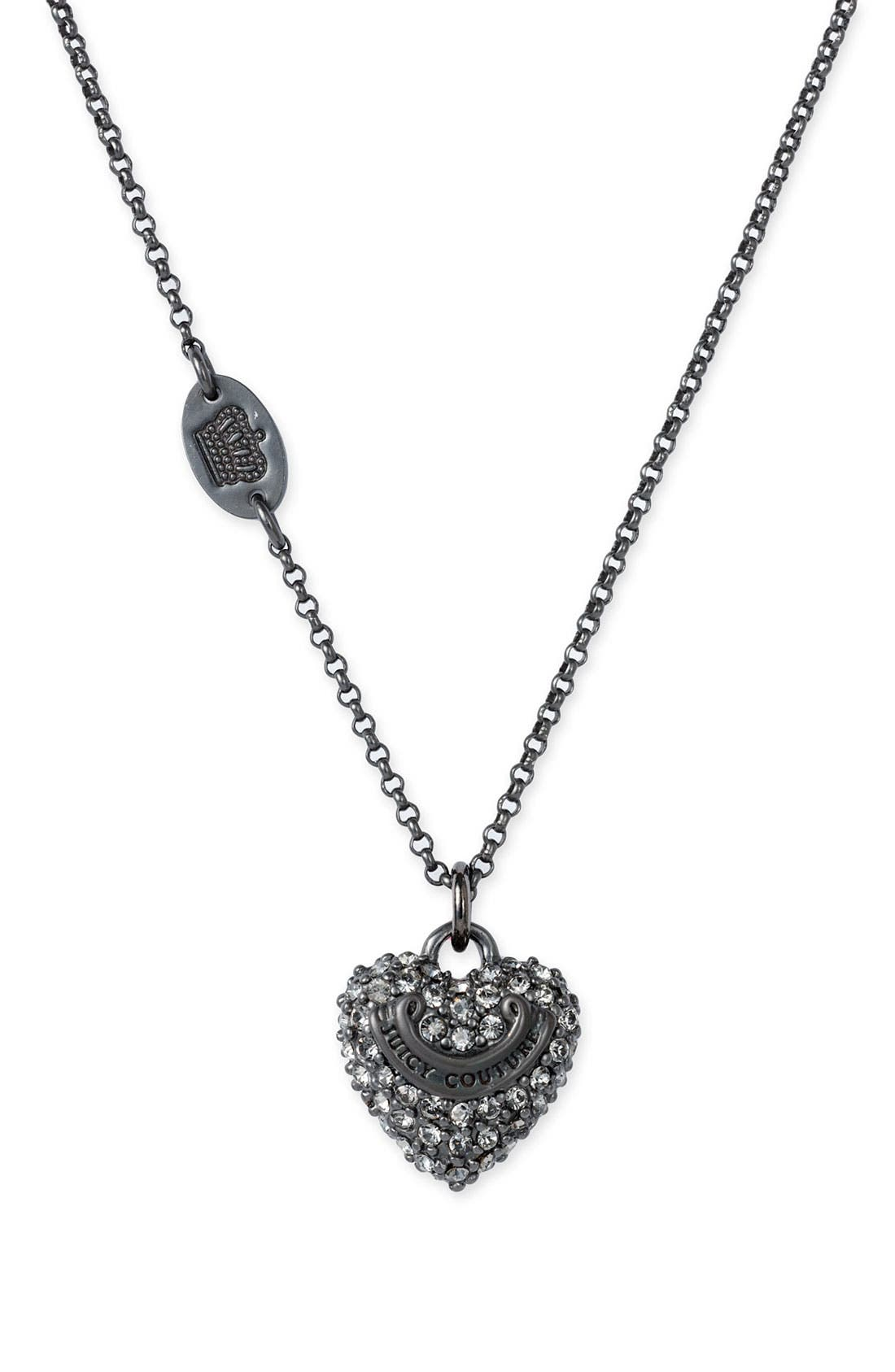 JUICY COUTURE, 'Wish - Pavé Cupcake' Necklace, Main thumbnail 1, color, 002