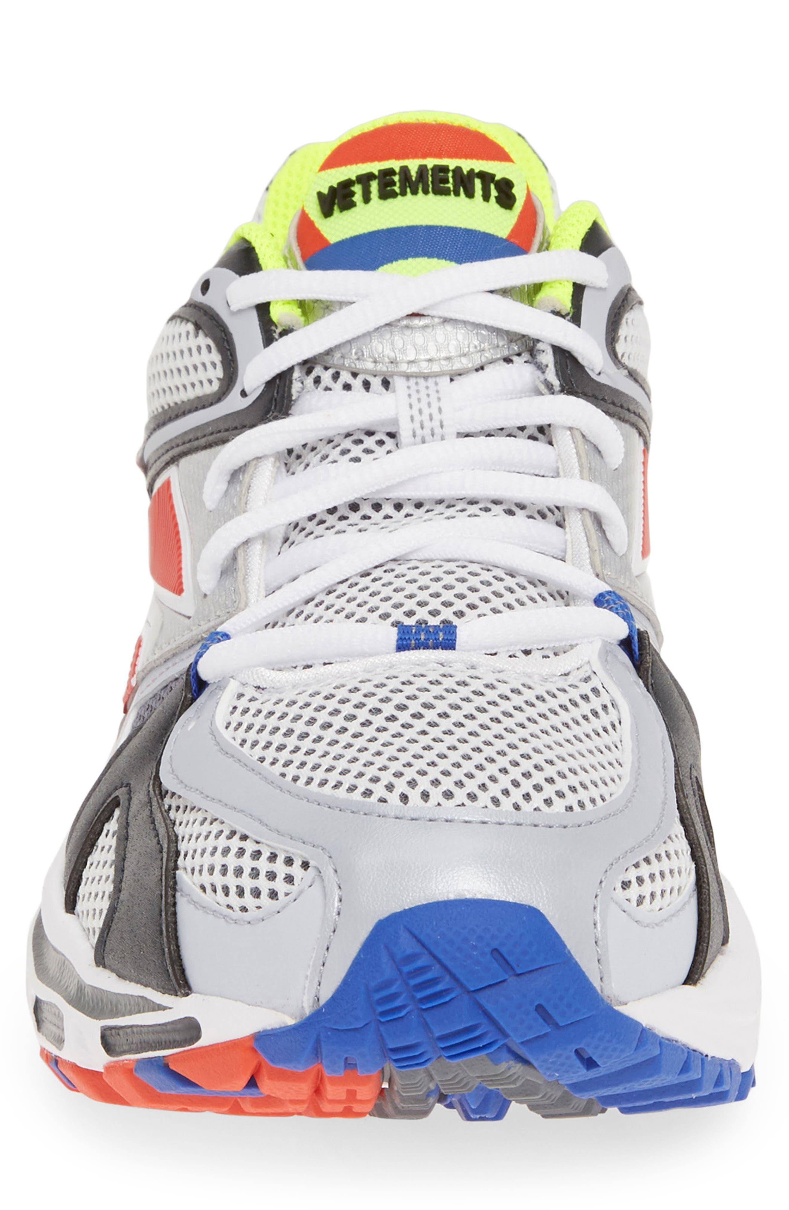 VETEMENTS, x Reebok Spike Runner 200 Sneaker, Alternate thumbnail 4, color, FLUO YELLOW
