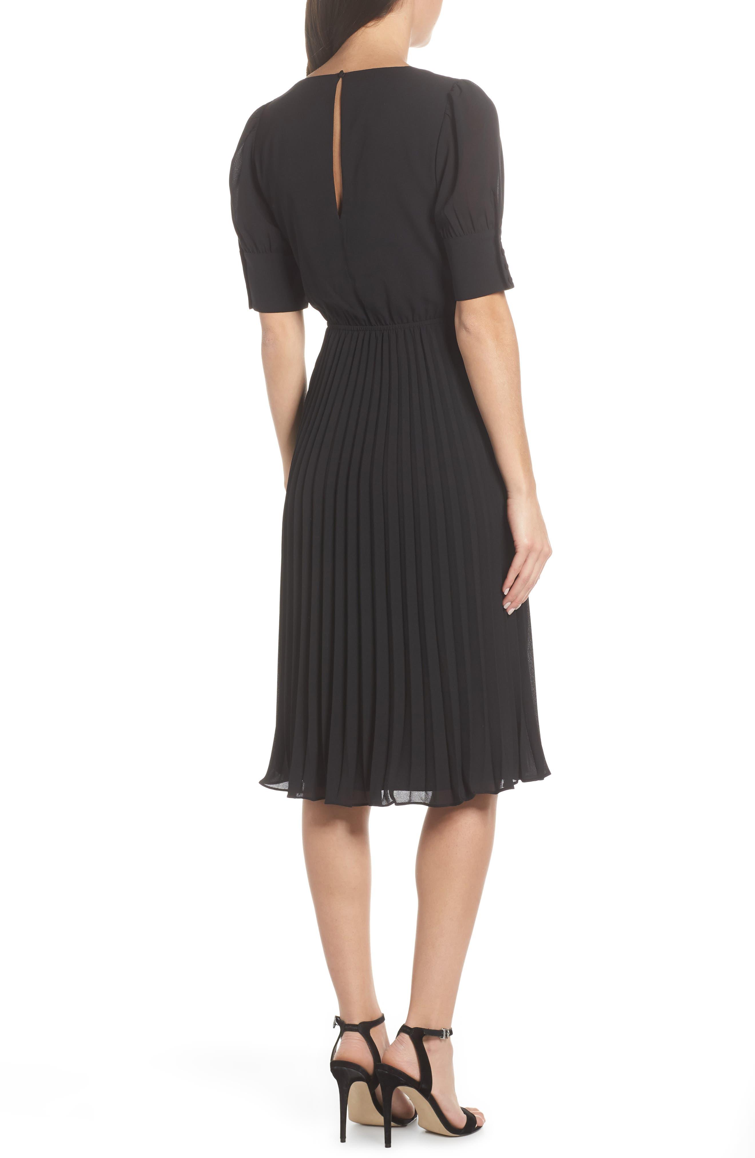 ALI & JAY, Angles Flight Chiffon Fit & Flare Dress, Alternate thumbnail 2, color, BLACK