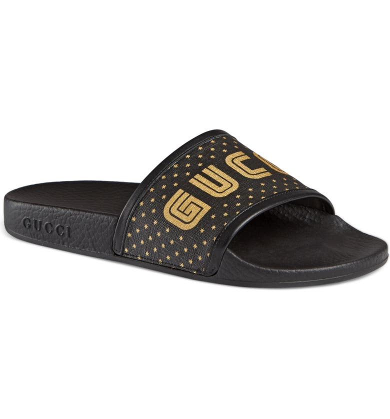 d5df68f13be8 Gucci Pursuit Guccy Logo Slide Sandal (Women)