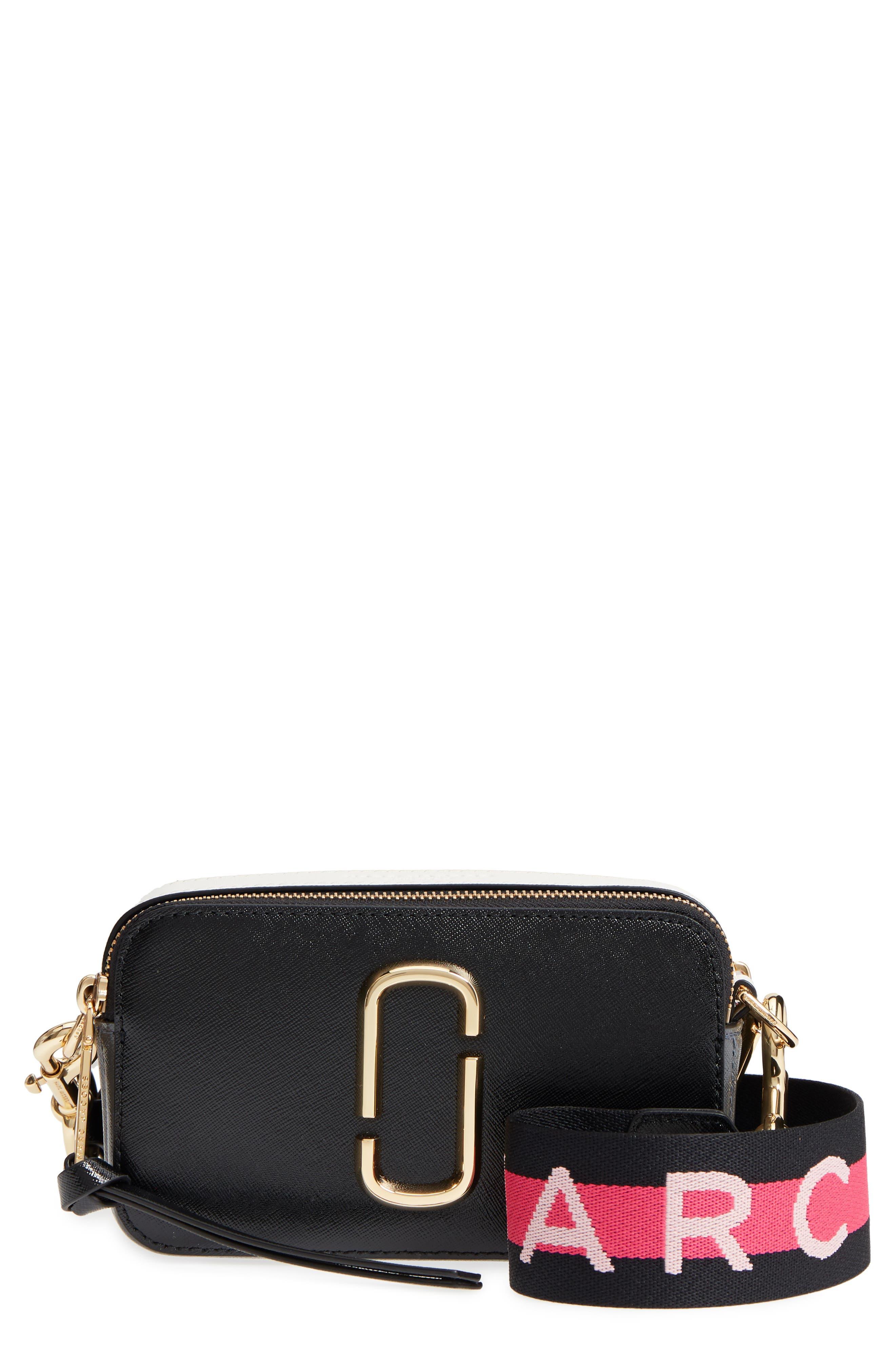 MARC JACOBS Snapshot Crossbody Bag, Main, color, BLACK MULTI