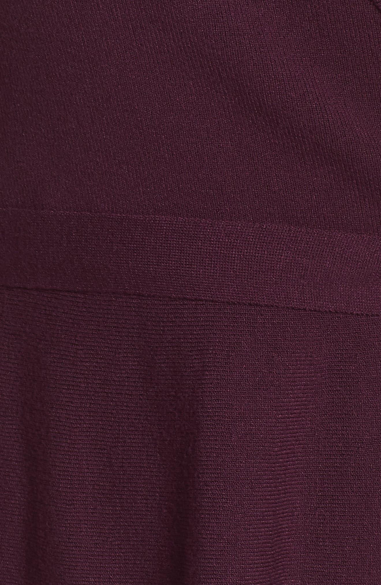 ELIZA J, Faux Wrap Sweater Dress, Alternate thumbnail 6, color, 930