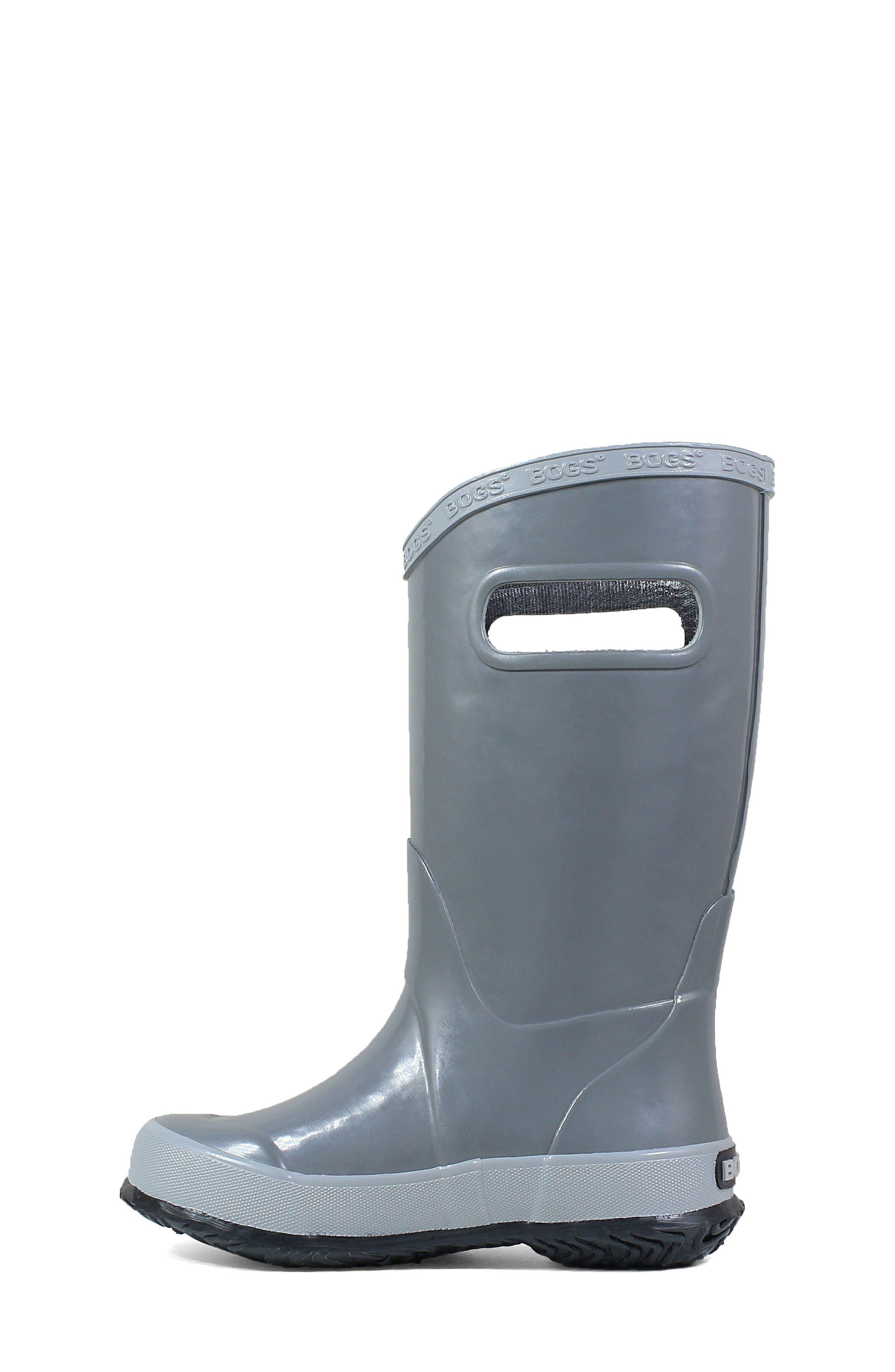 BOGS, Waterproof Rain Boot, Alternate thumbnail 8, color, 020