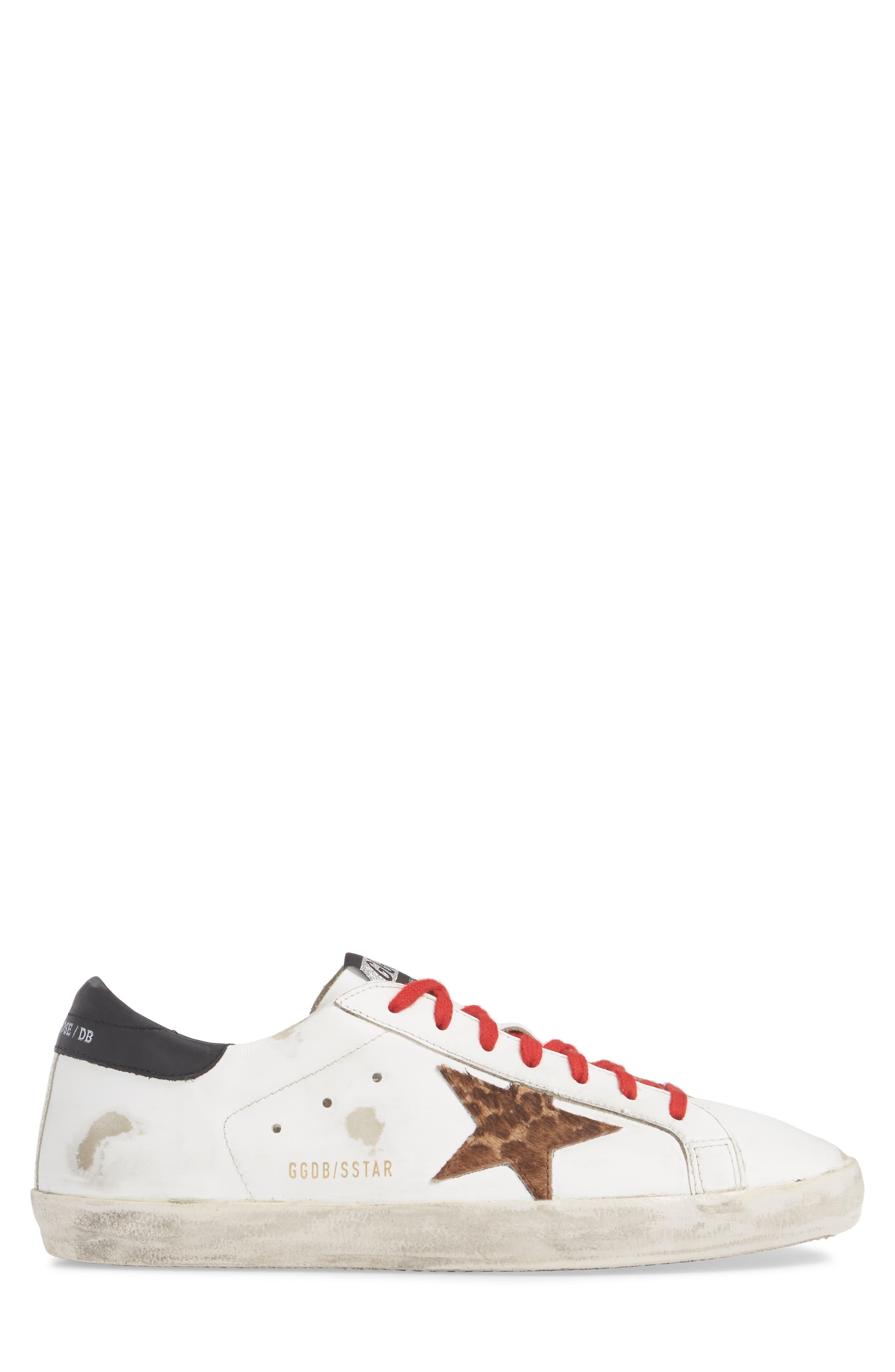 GOLDEN GOOSE, 'Superstar' Sneaker, Alternate thumbnail 3, color, WHITE/ BLACK