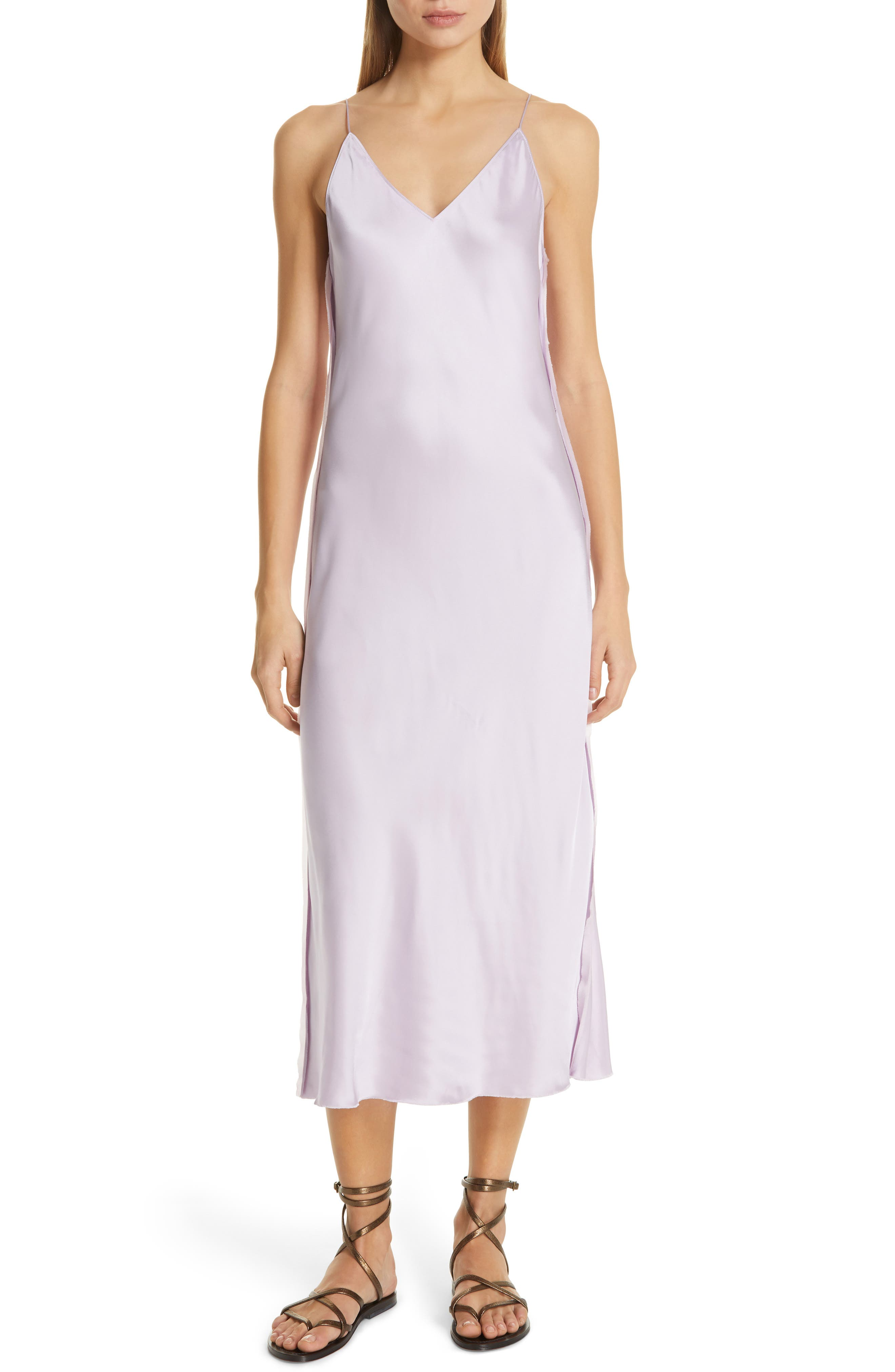 HELMUT LANG Raw Detail Slipdress, Main, color, LAVENDER