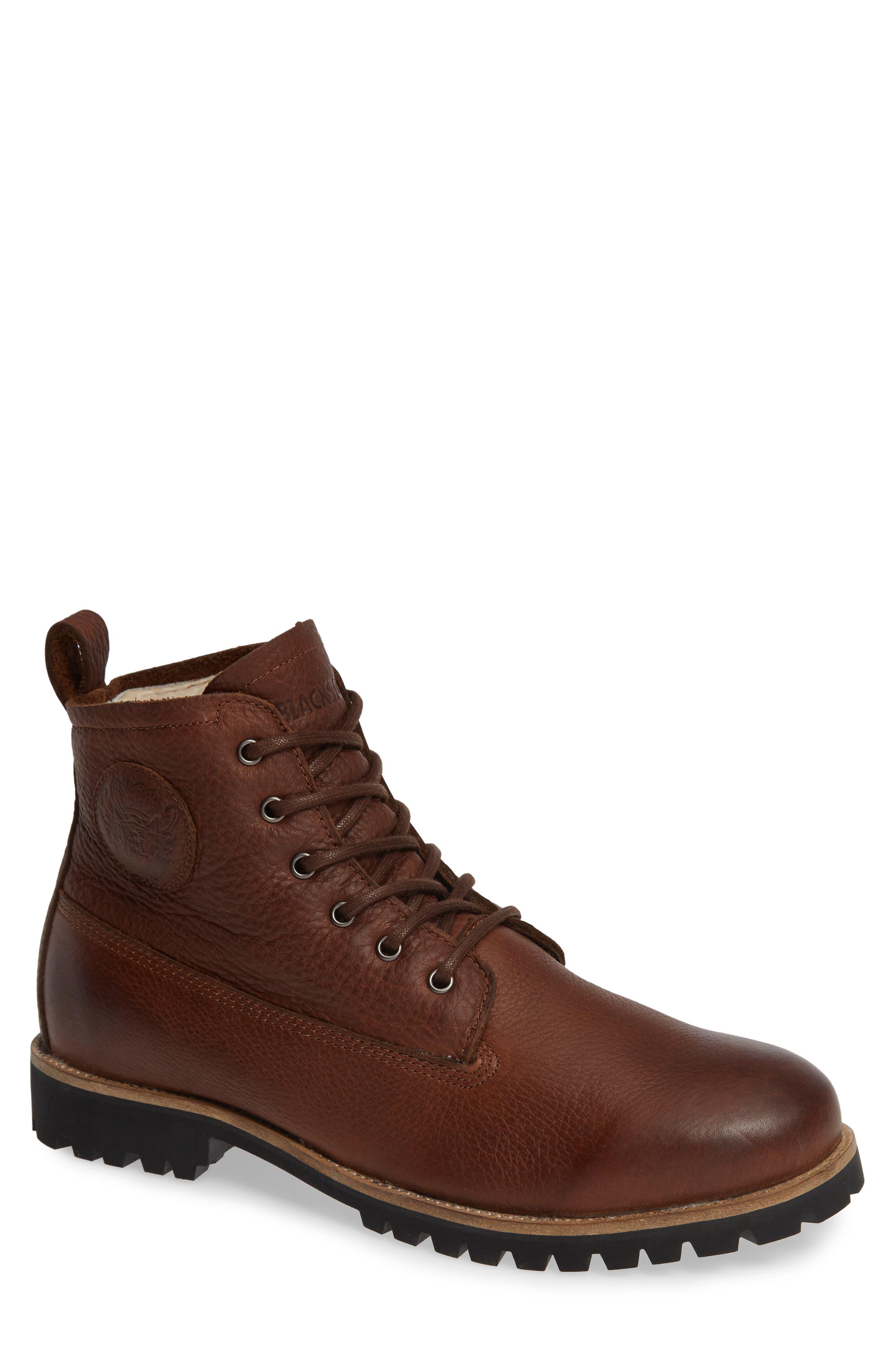 Blackstone Om60 Waterproof Genuine Shearling Boot, Brown