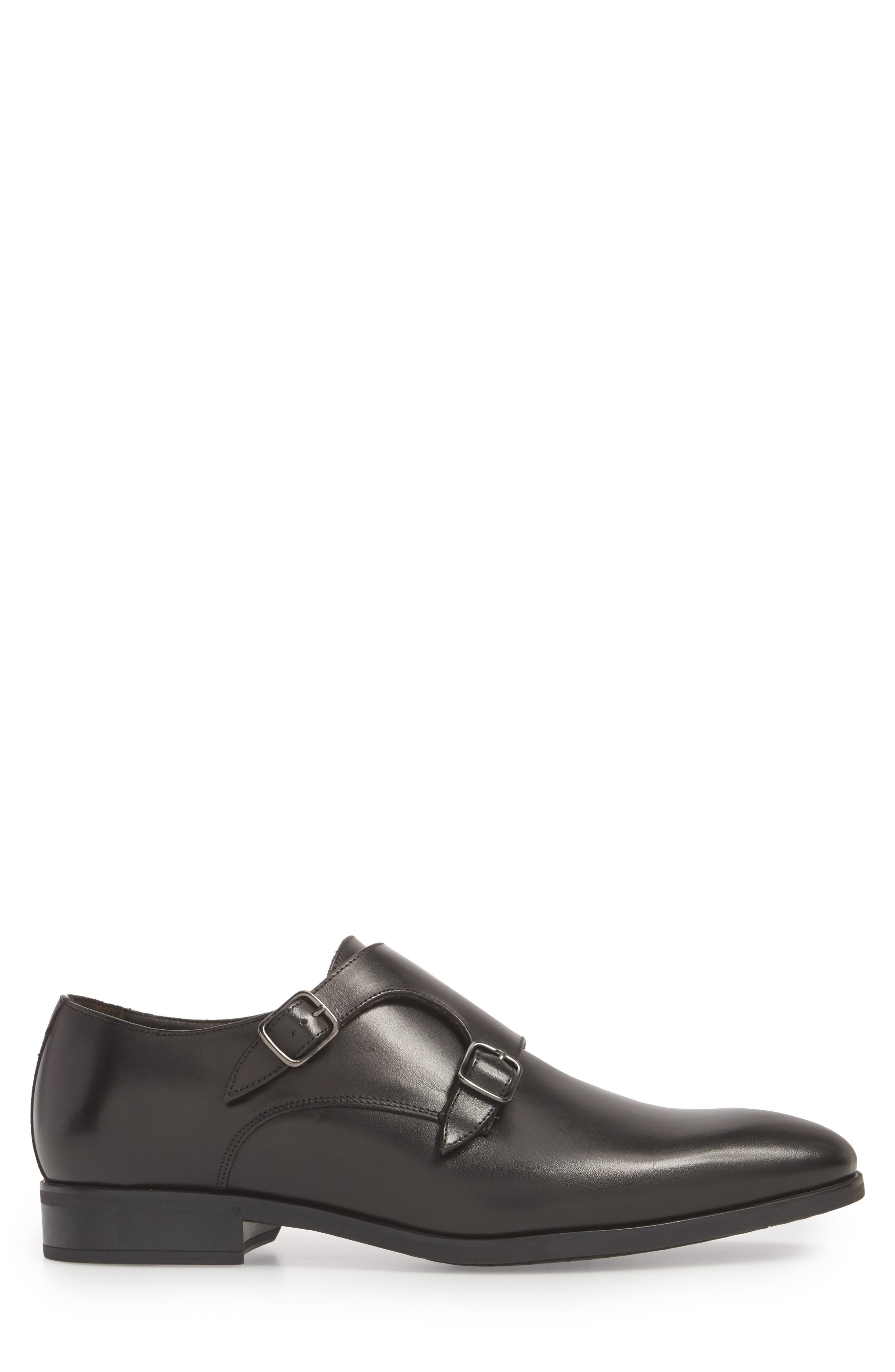 TO BOOT NEW YORK, Benjamin Double Monk Strap Shoe, Alternate thumbnail 3, color, 002