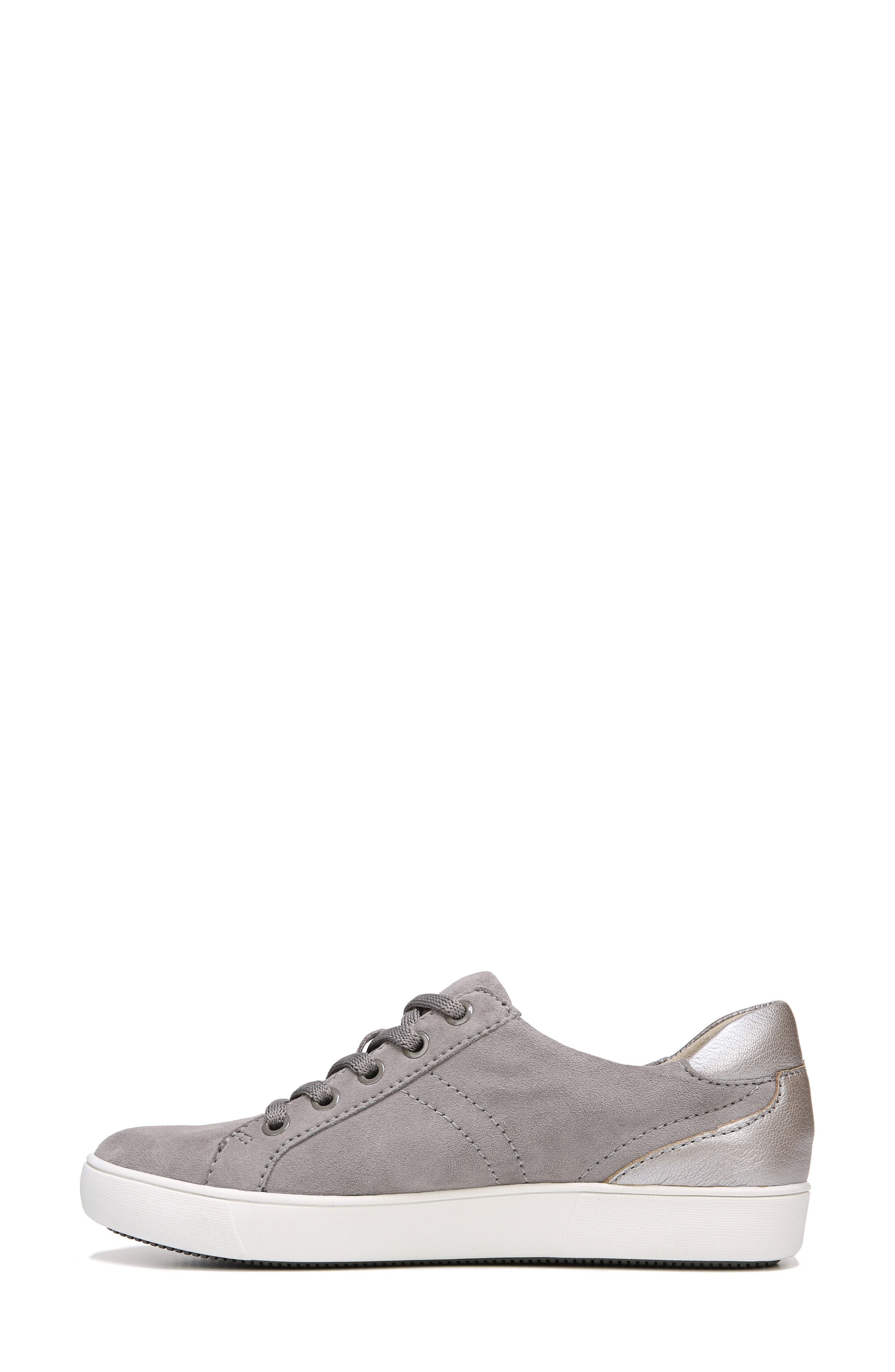 NATURALIZER, Morrison Sneaker, Alternate thumbnail 3, color, GREY SUEDE