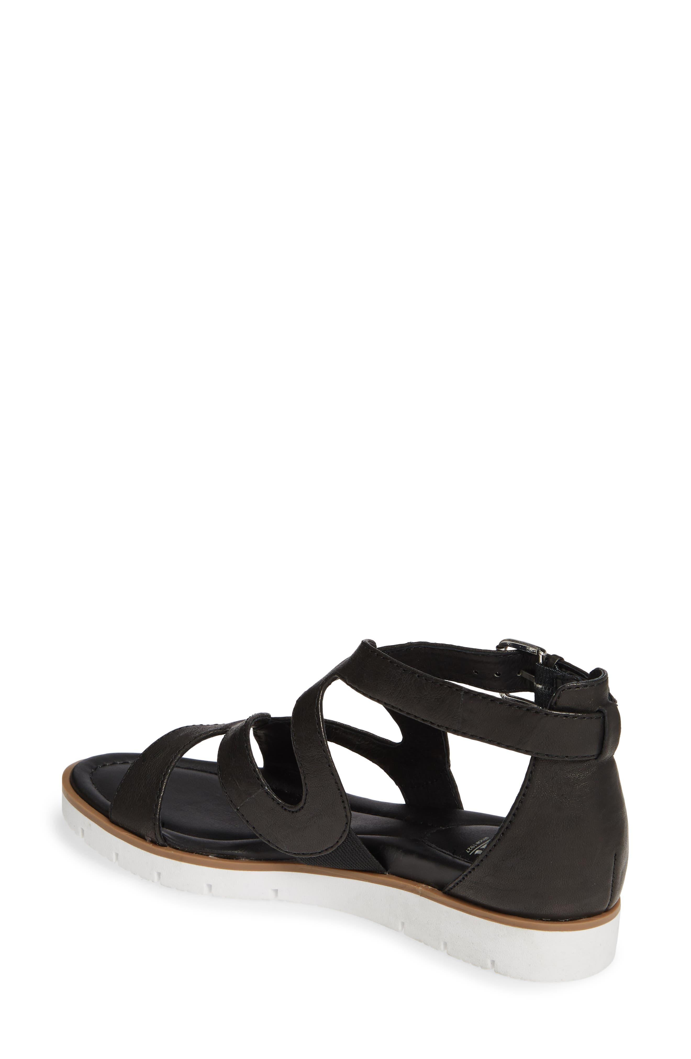 SÖFFT, 'Malana' Leather Sandal, Alternate thumbnail 2, color, BLACK LEATHER