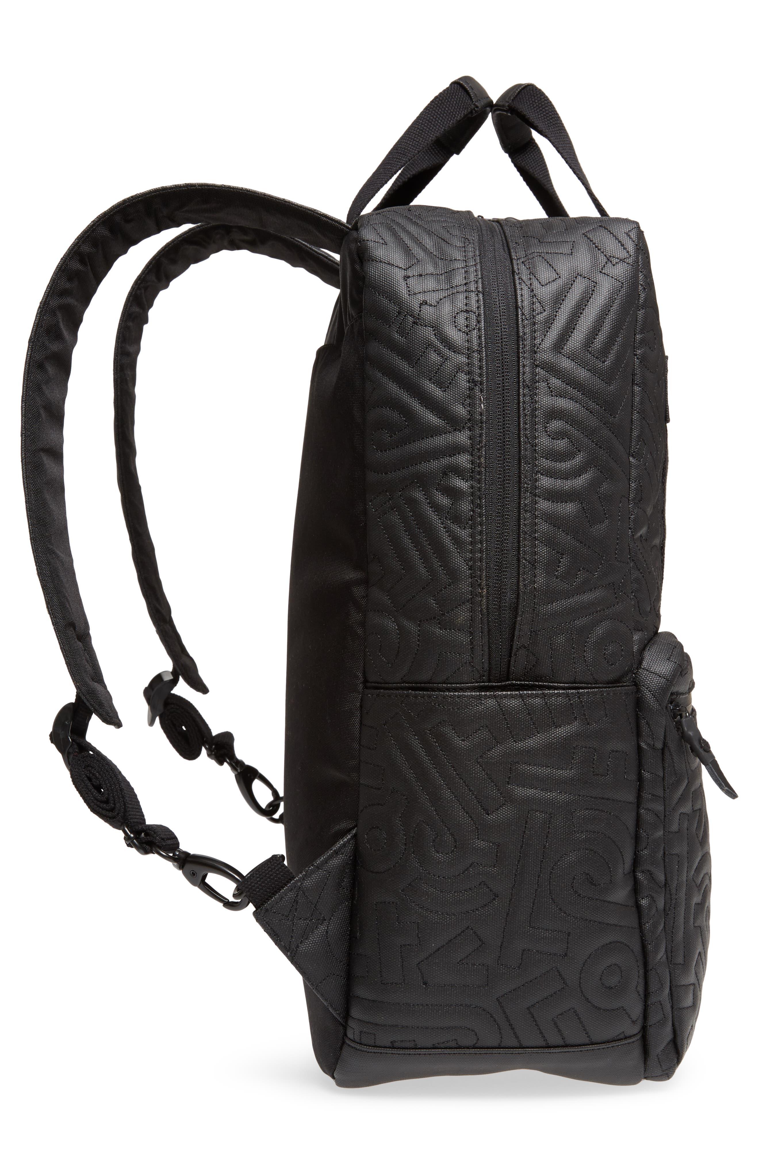 HEX, x Aaron De La Cruz Convertible Backpack, Alternate thumbnail 3, color, 003