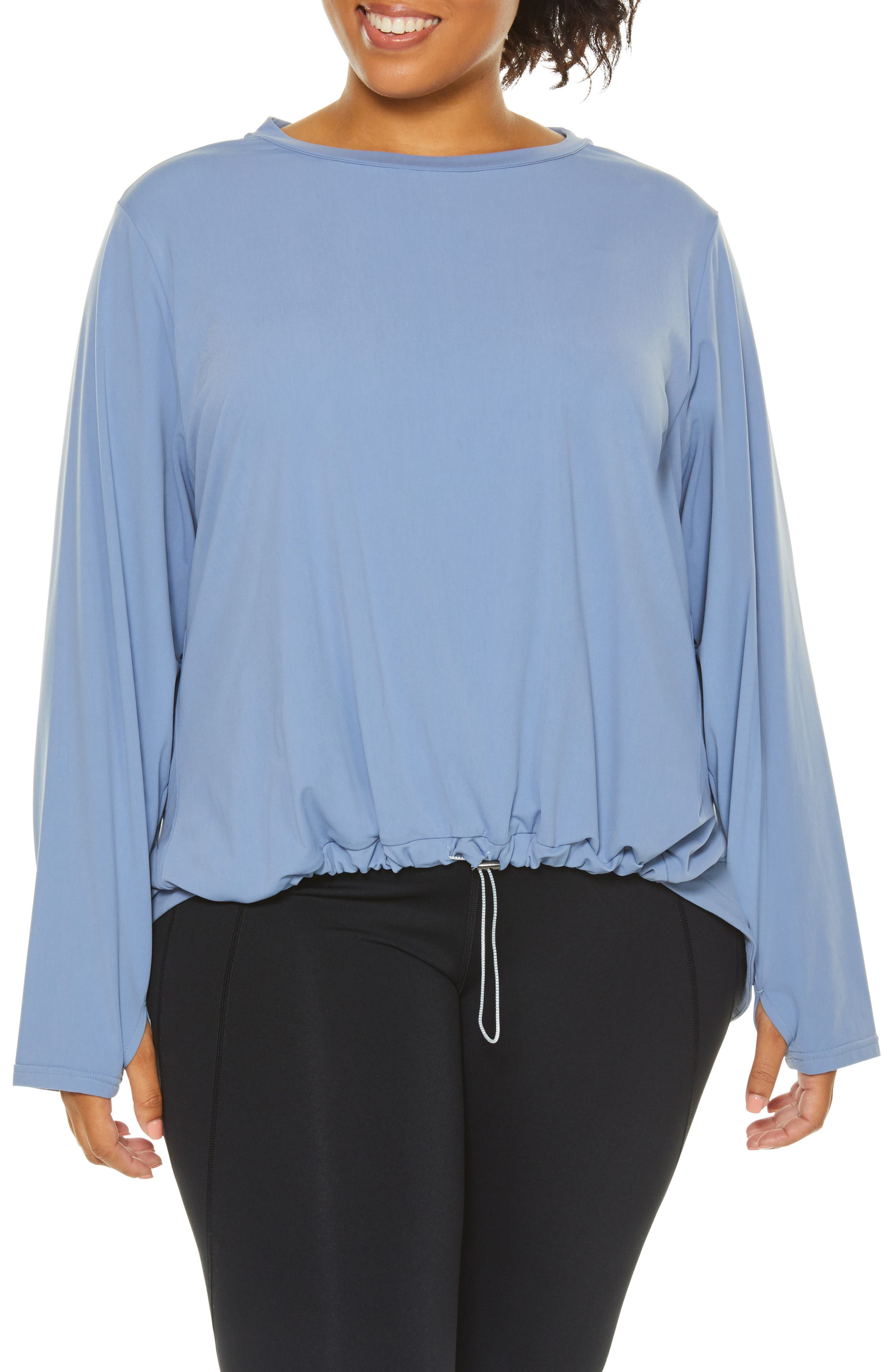 SHAPE ACTIVEWEAR, Opt Out High/Low Sweatshirt, Main thumbnail 1, color, INFINITY