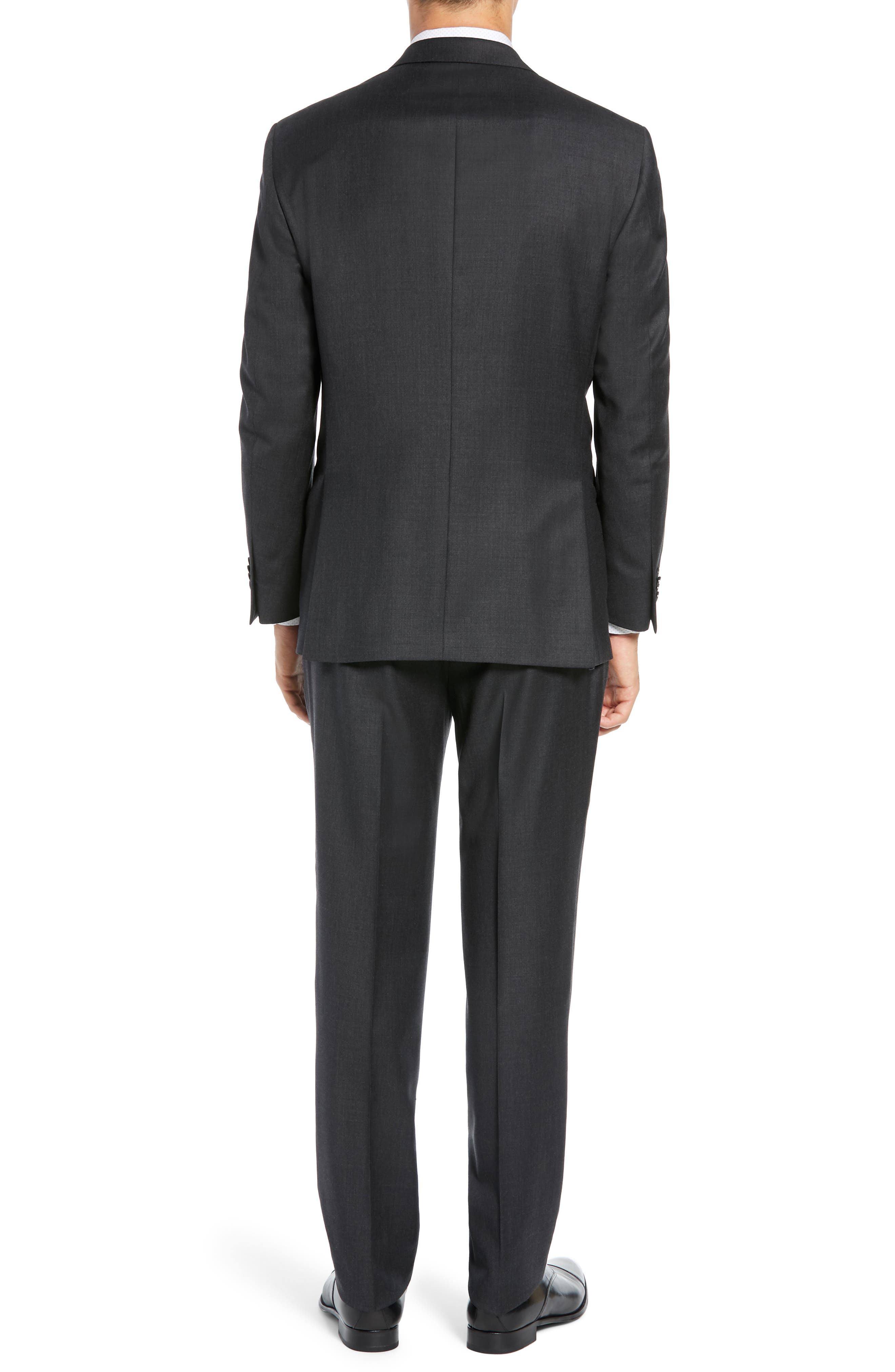 PETER MILLAR, Classic Fit Wool Suit, Alternate thumbnail 2, color, CHARCOAL