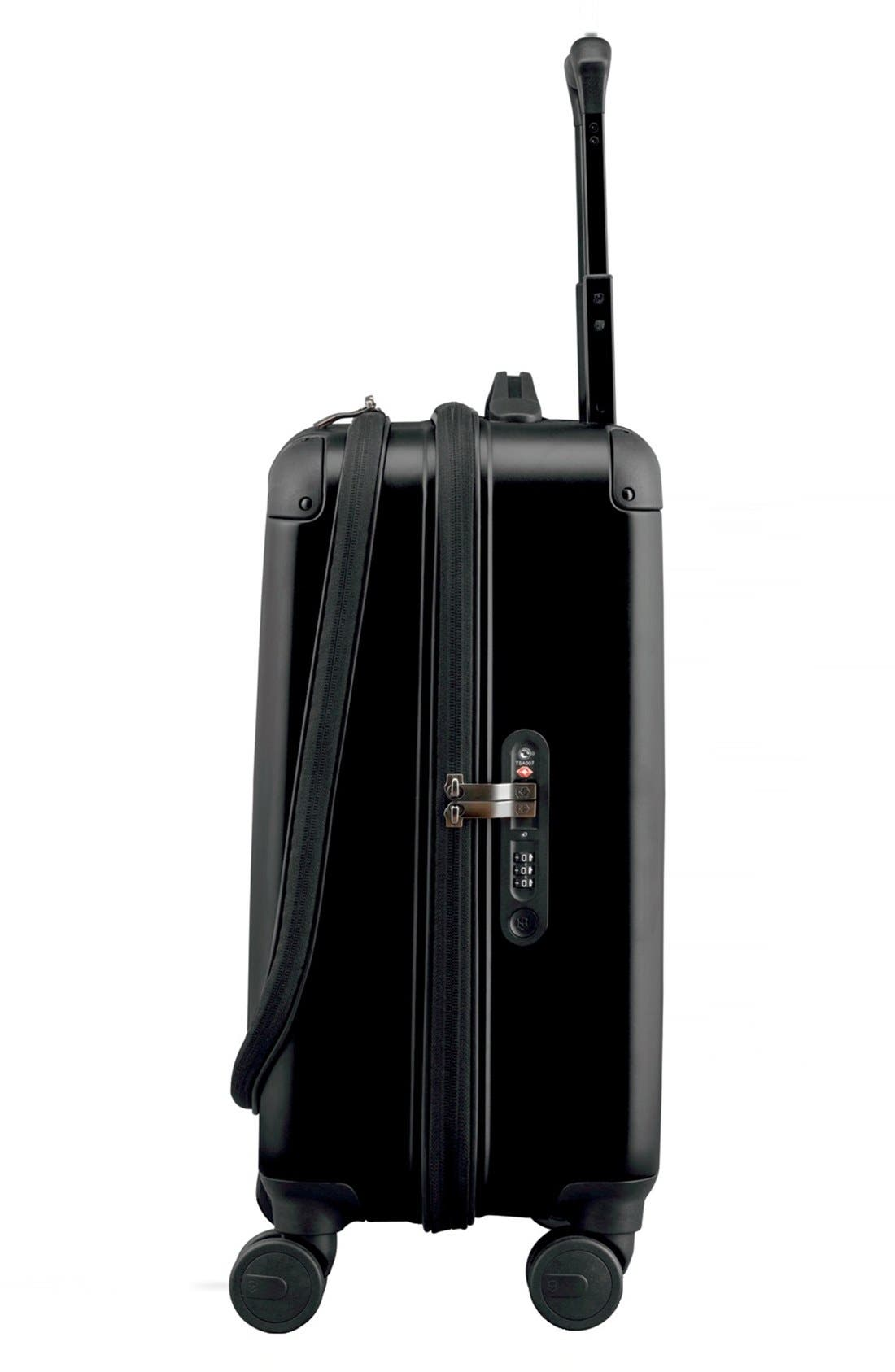 VICTORINOX SWISS ARMY<SUP>®</SUP>, Spectra 2.0 Hard Sided Rolling 22-Inch Carry-On, Alternate thumbnail 3, color, BLACK