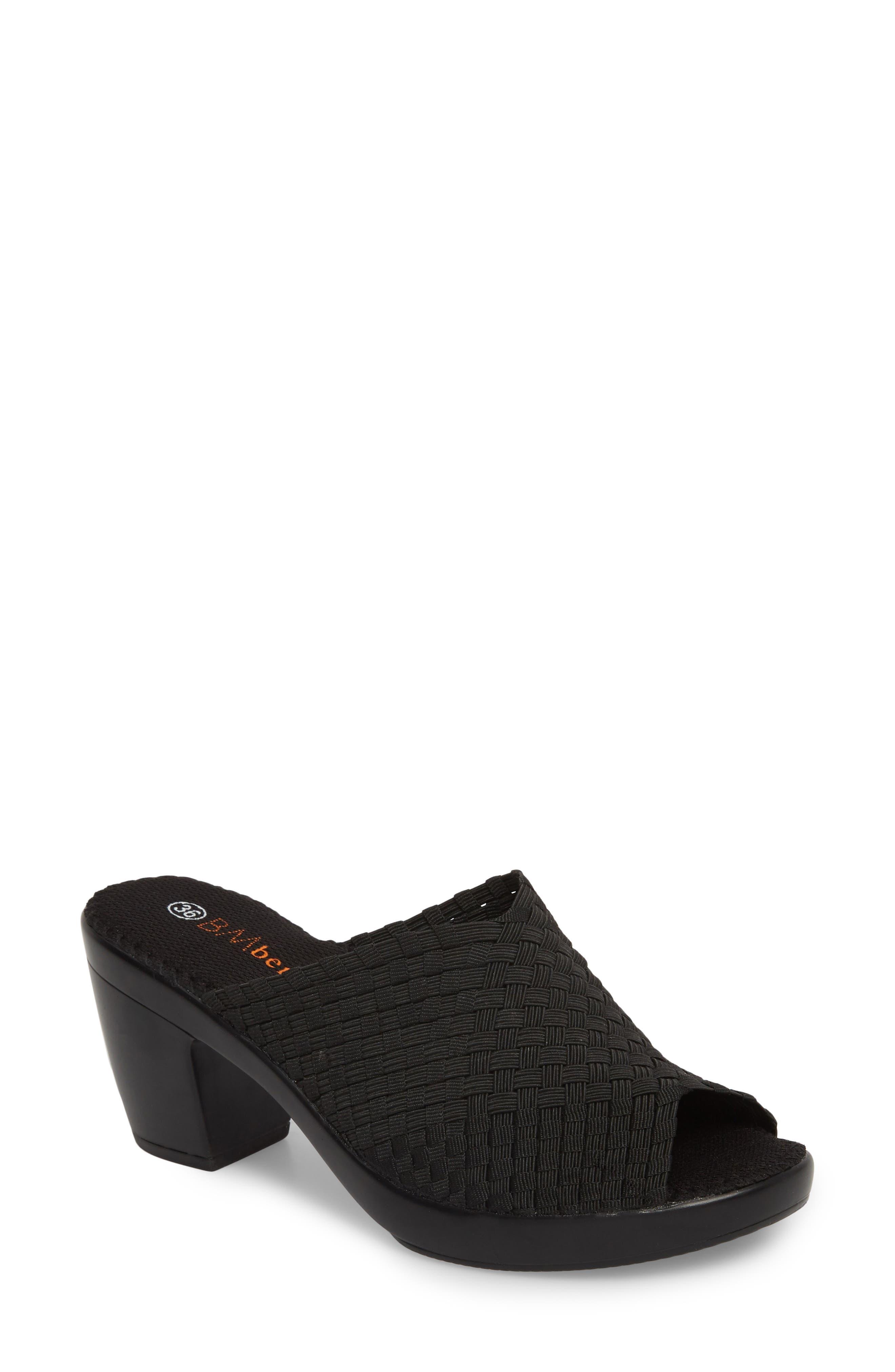 BERNIE MEV., Sun Texas Sandal, Main thumbnail 1, color, BLACK FABRIC
