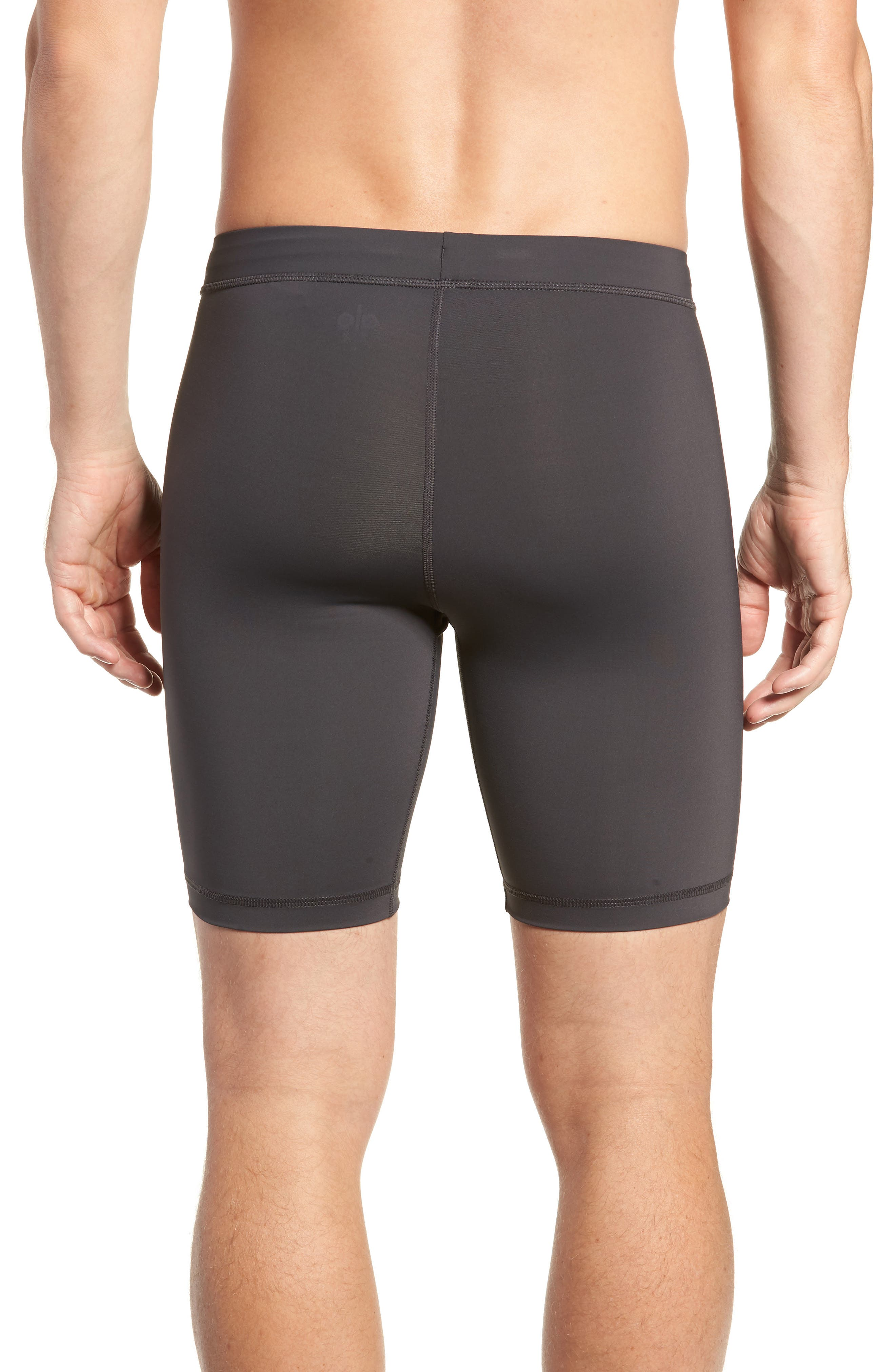 ALO, Warrior Compression Shorts, Alternate thumbnail 2, color, GRAPHITE
