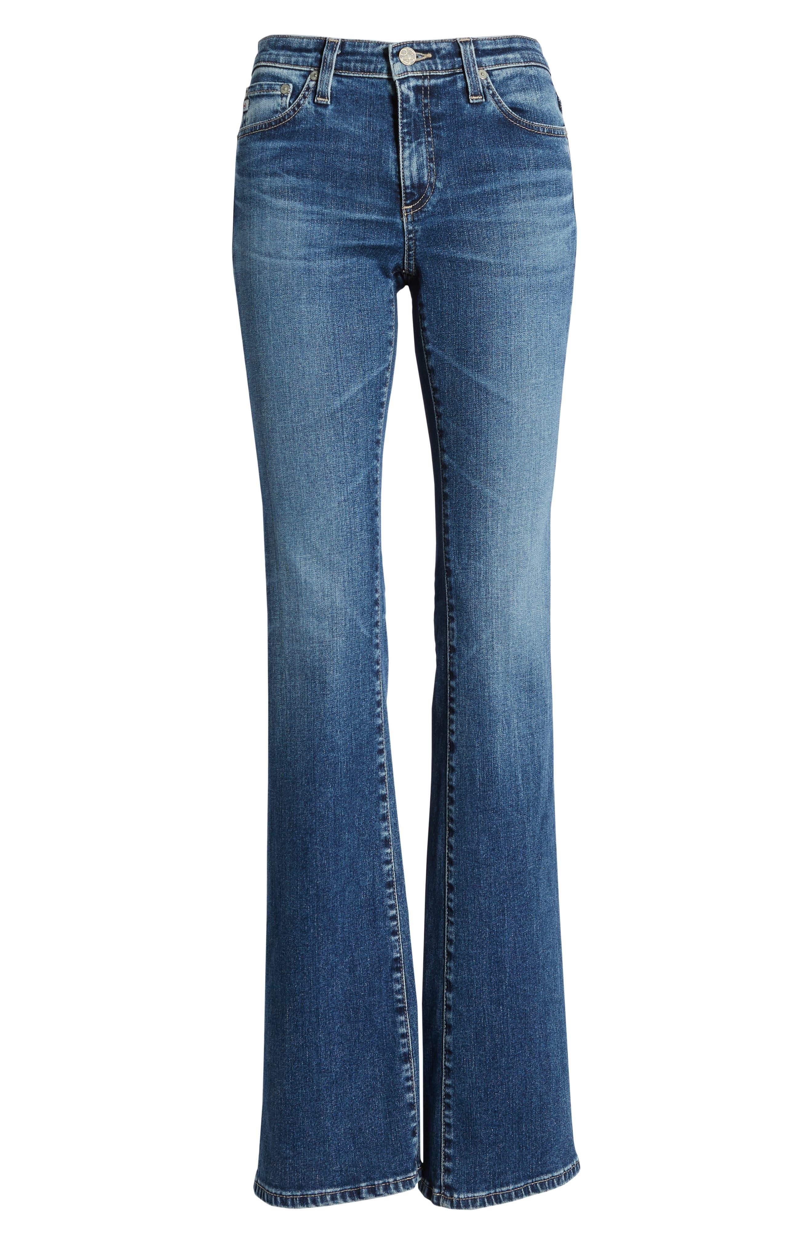 AG, Angel Flare Jeans, Alternate thumbnail 7, color, 12 YEARS FLUID