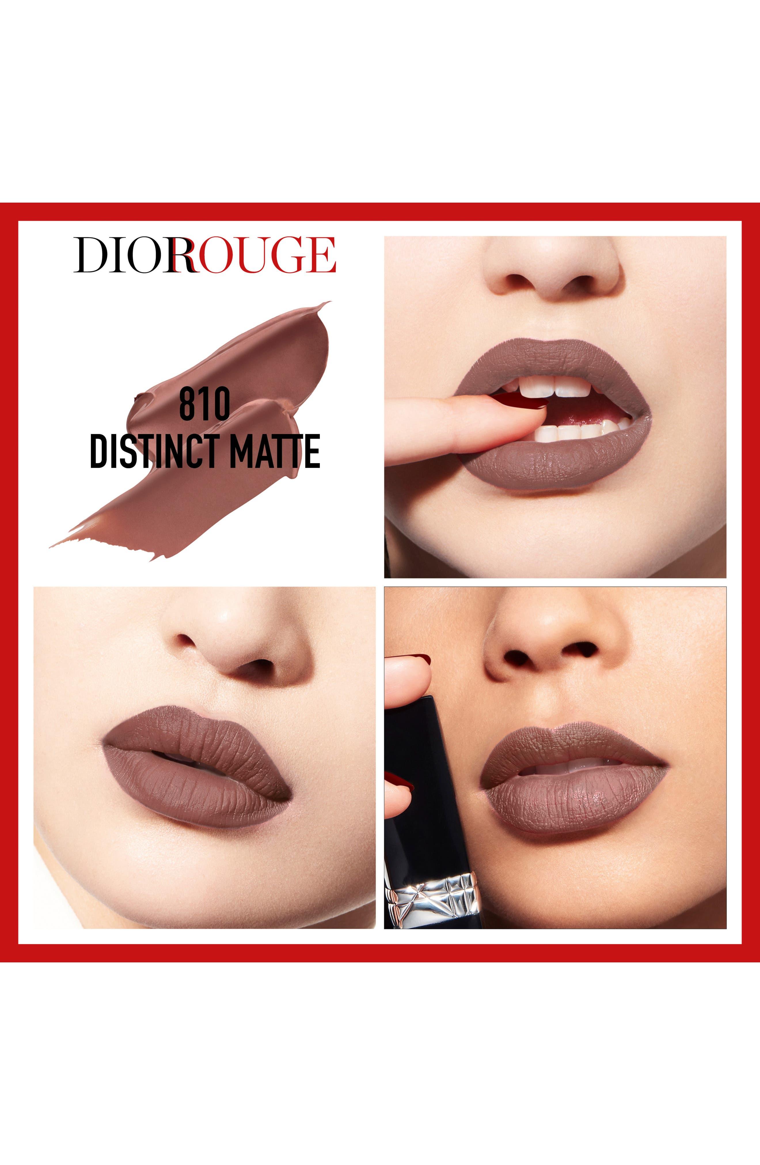 DIOR, Couture Color Rouge Dior Lipstick, Alternate thumbnail 2, color, 810 DISTINCT MATTE